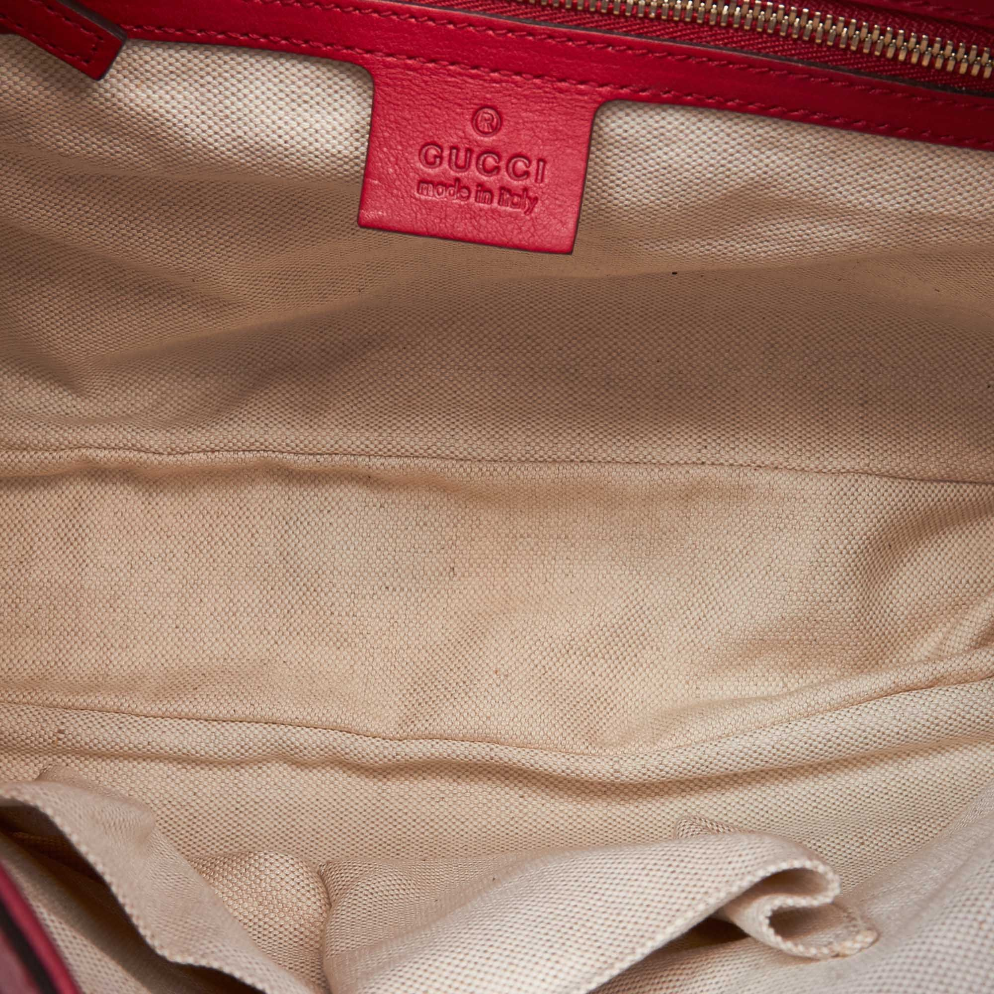 Vintage Gucci Leather New Jackie Satchel Red