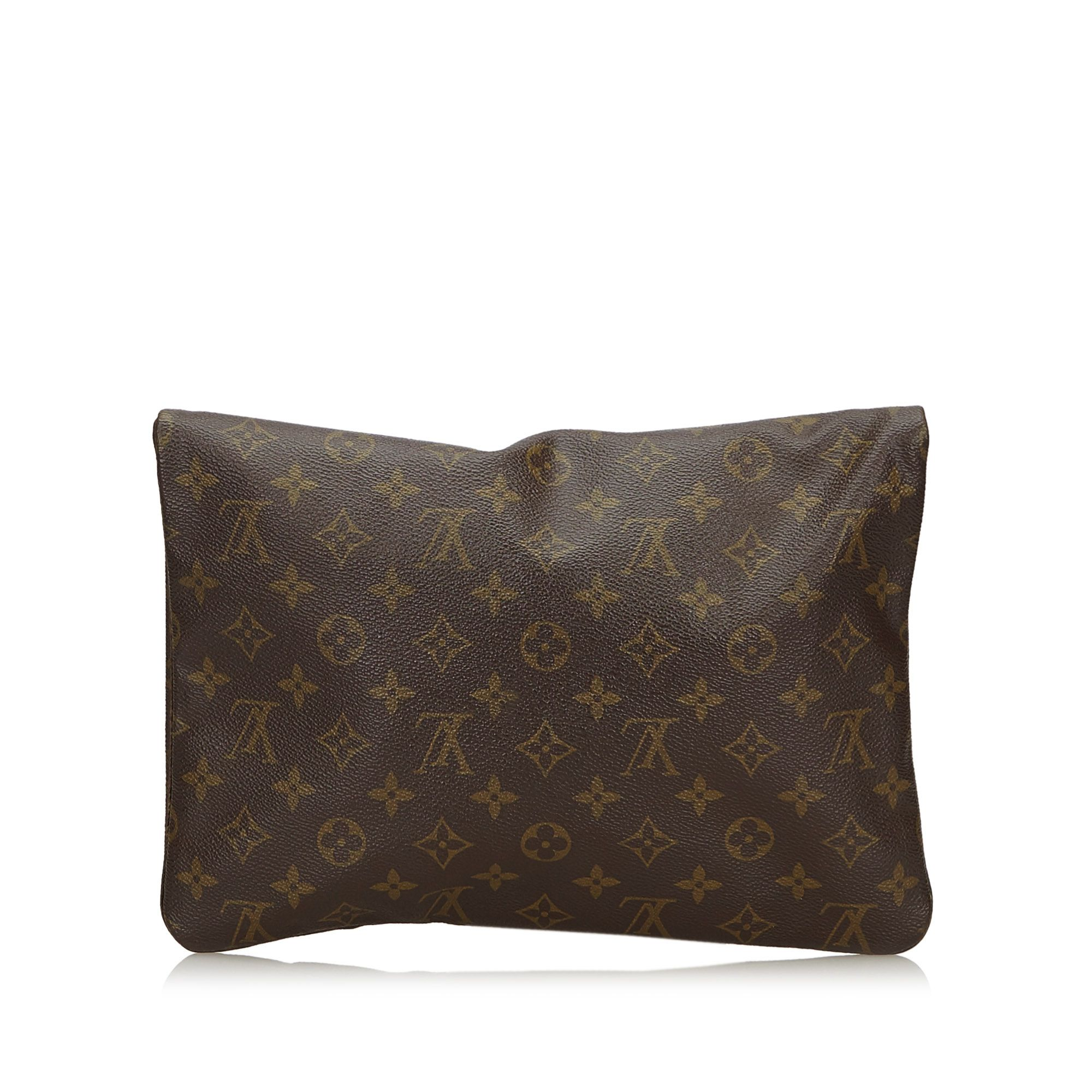 Vintage Louis Vuitton Monogram Pochette Pliant Brown