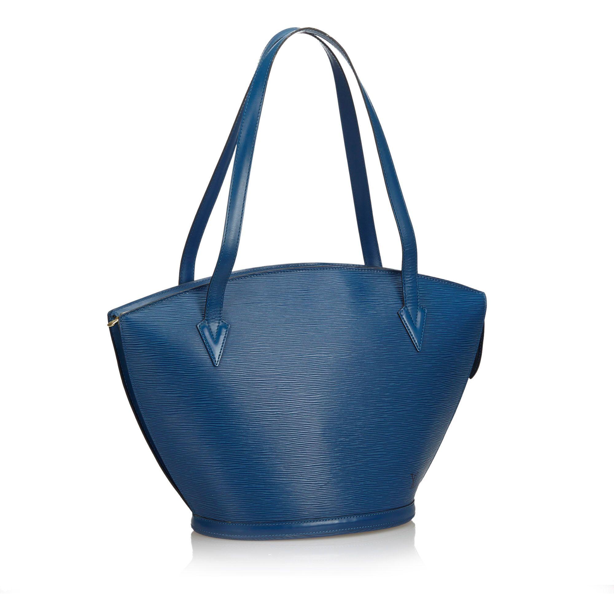 Vintage Louis Vuitton Epi Saint Jacques GM Long Strap Blue