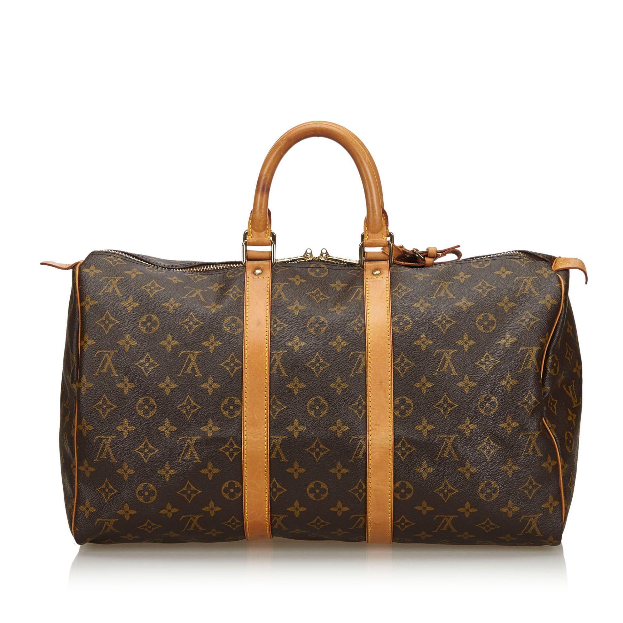 Vintage Louis Vuitton Monogram Keepall 45 Brown