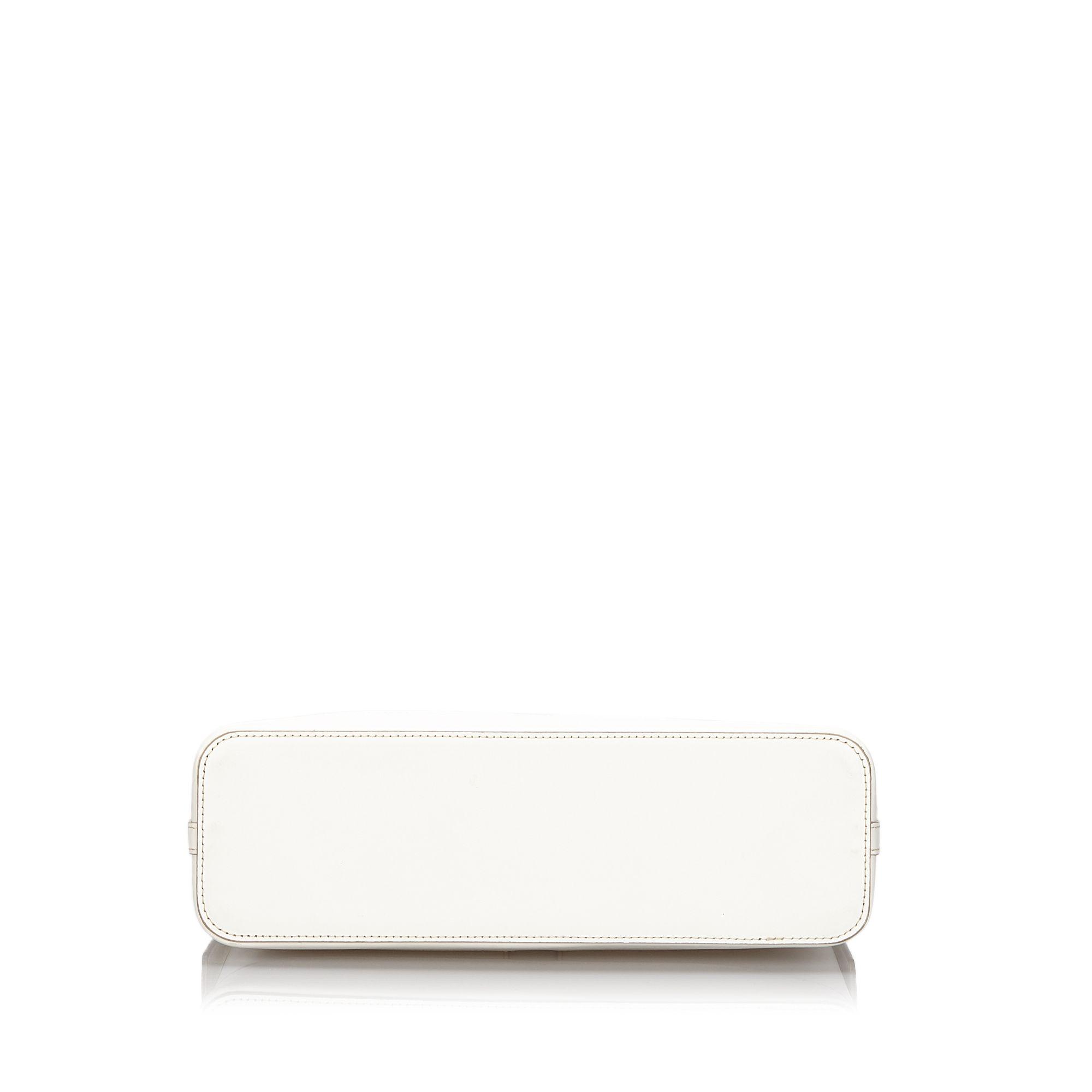 Vintage Burberry Leather Shoulder Bag White