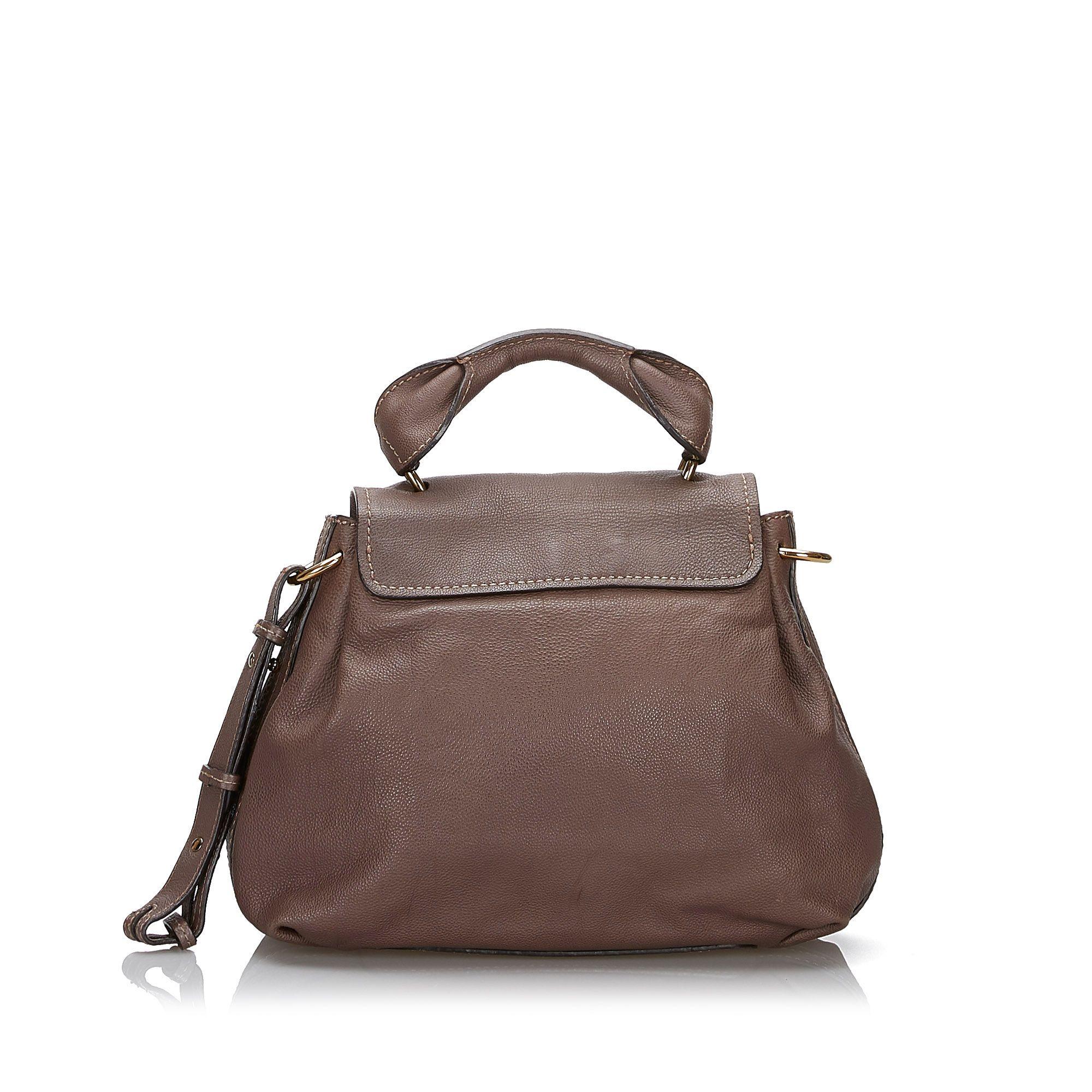 Vintage Chloe Leather Elsie Satchel Gray