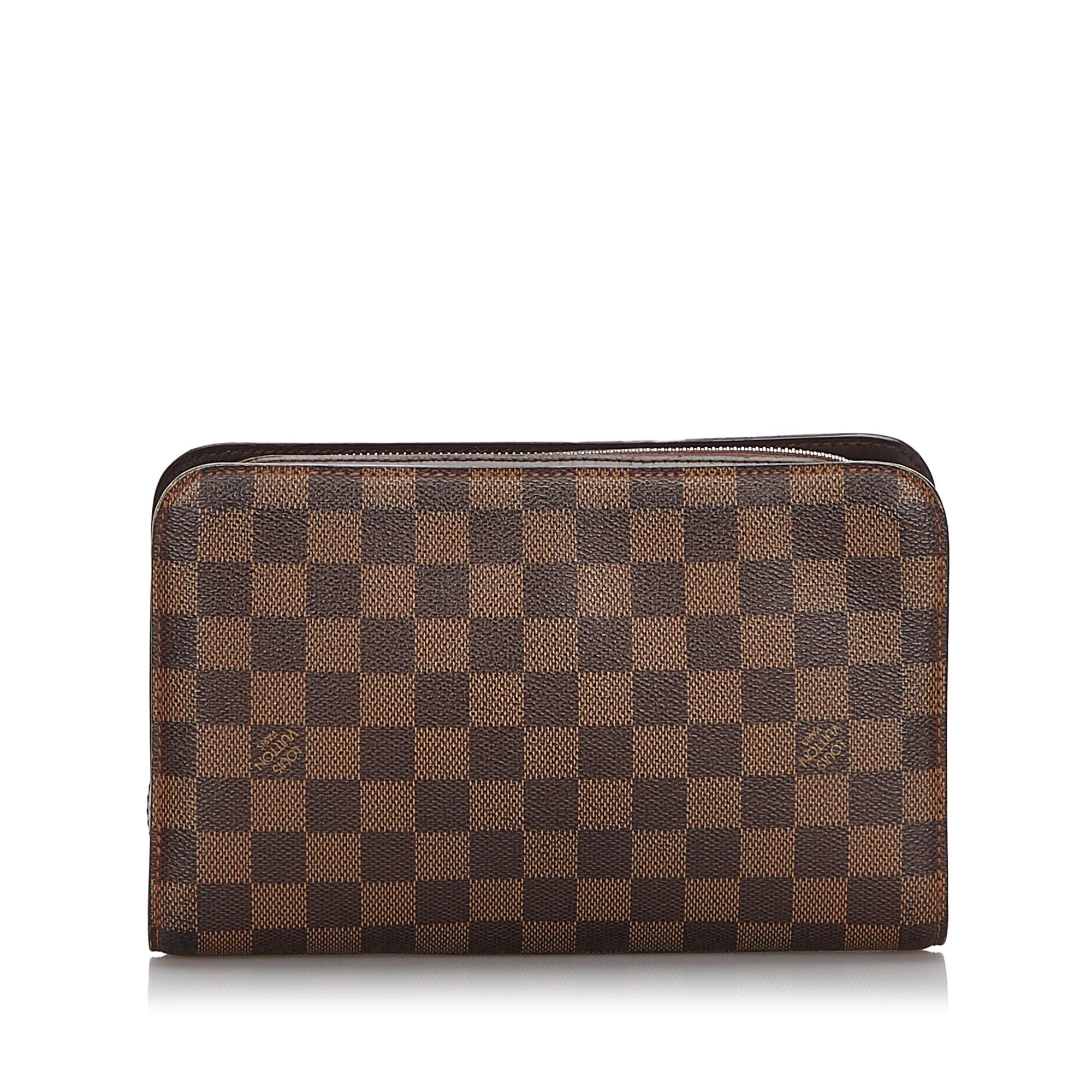 Vintage Louis Vuitton Damier Ebene Pochette Saint Paul Brown