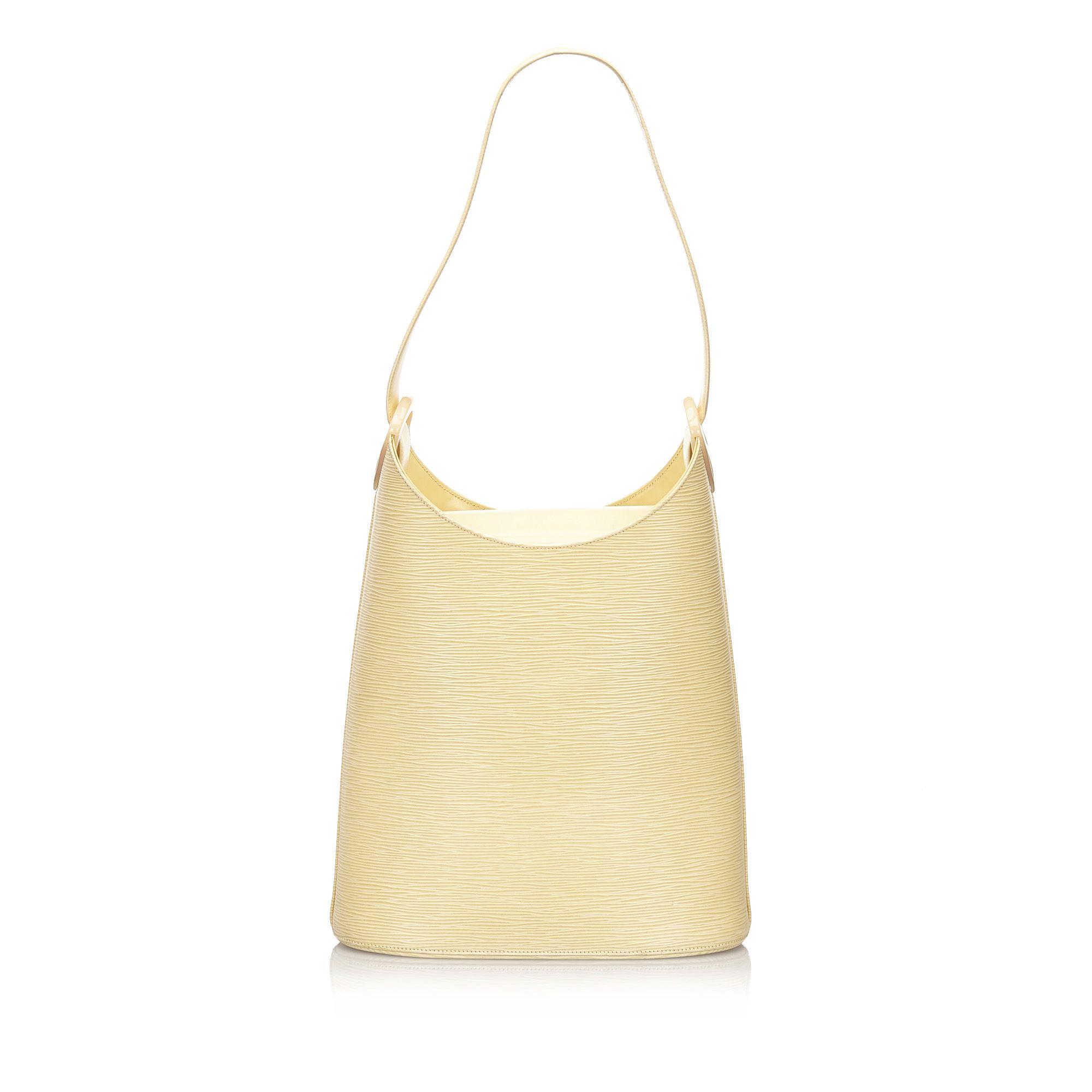Vintage Louis Vuitton Epi Sac Verseau White