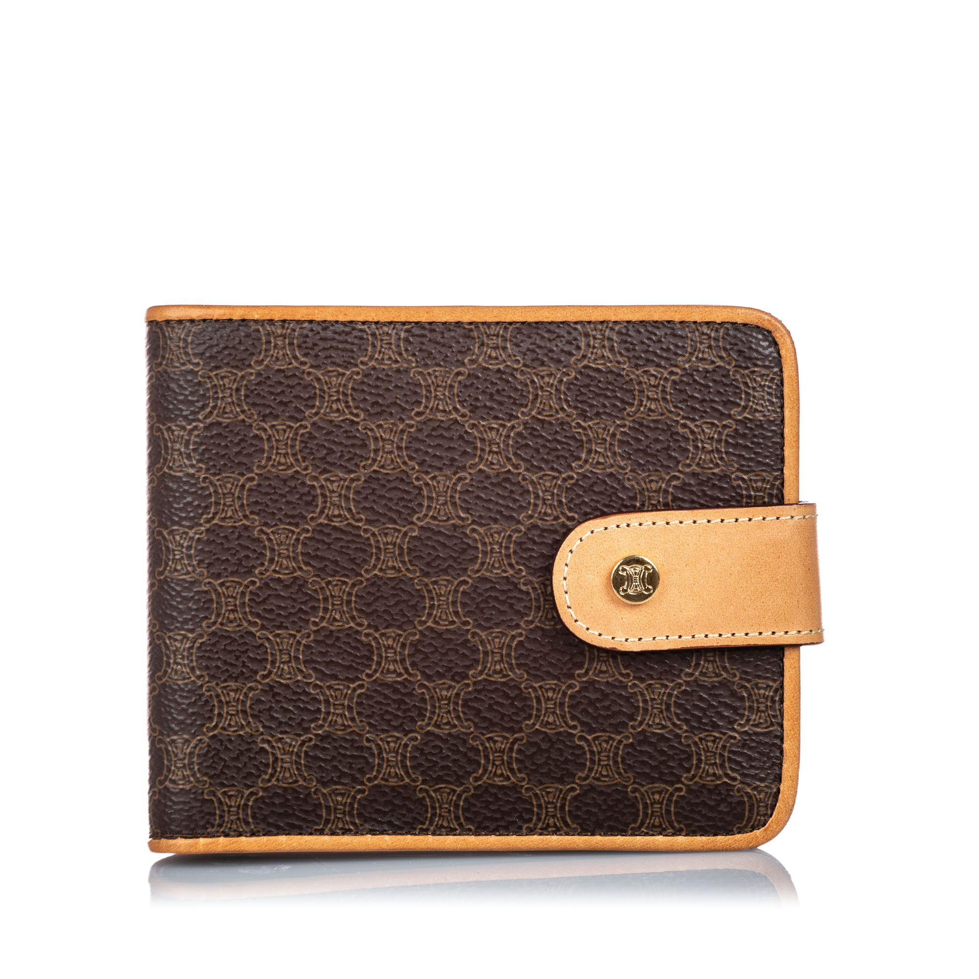 Vintage Celine Macadam Small Wallet Brown