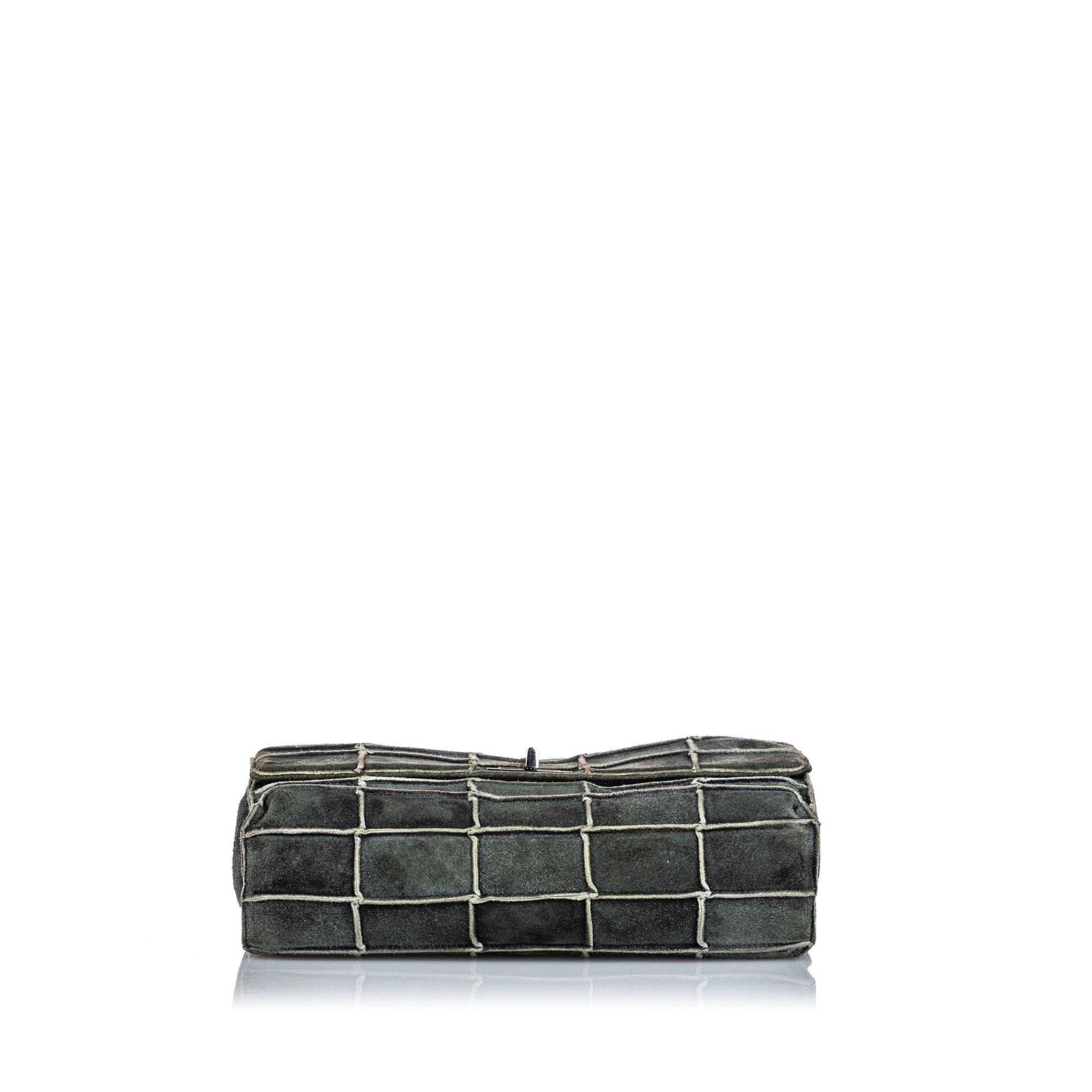 Vintage Chanel Reissue 225 Patchwork Flap Bag Gray