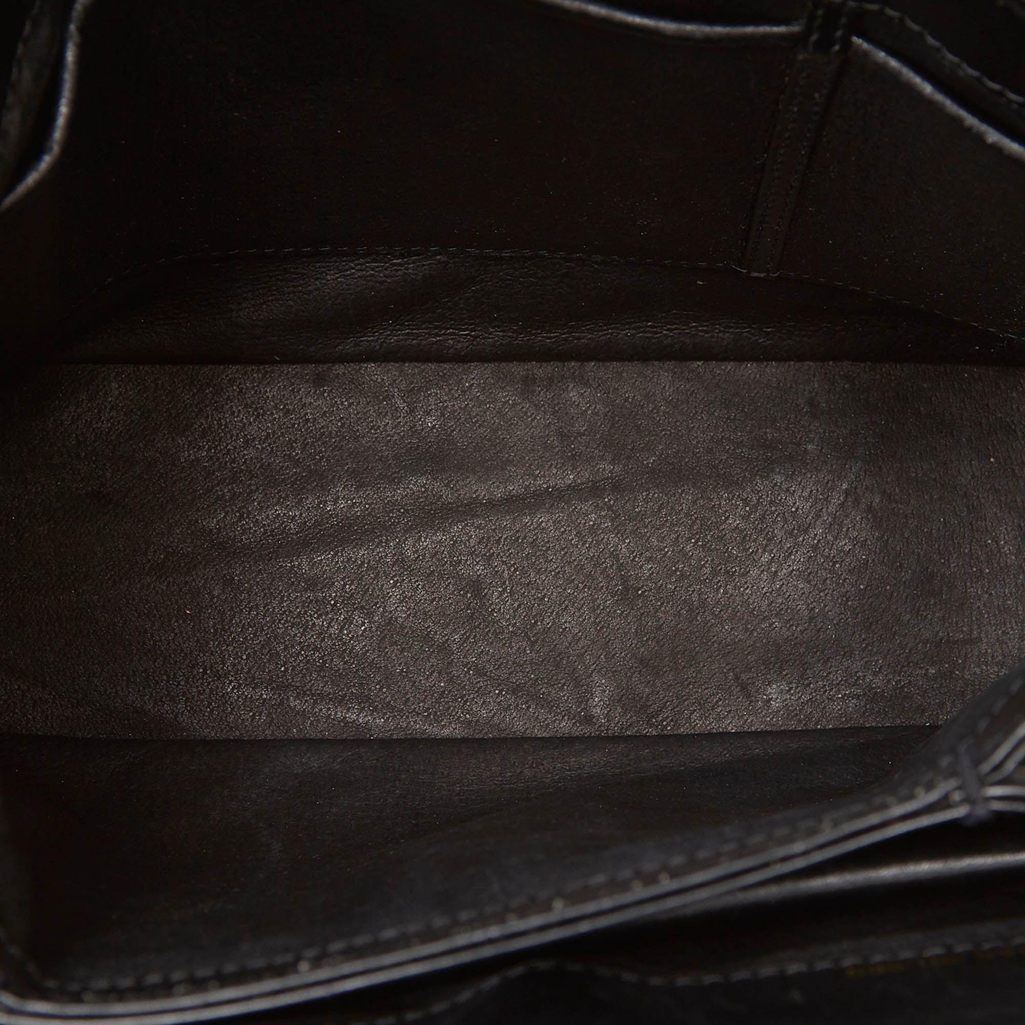 Vintage Gucci Old Gucci Leather Handbag Black
