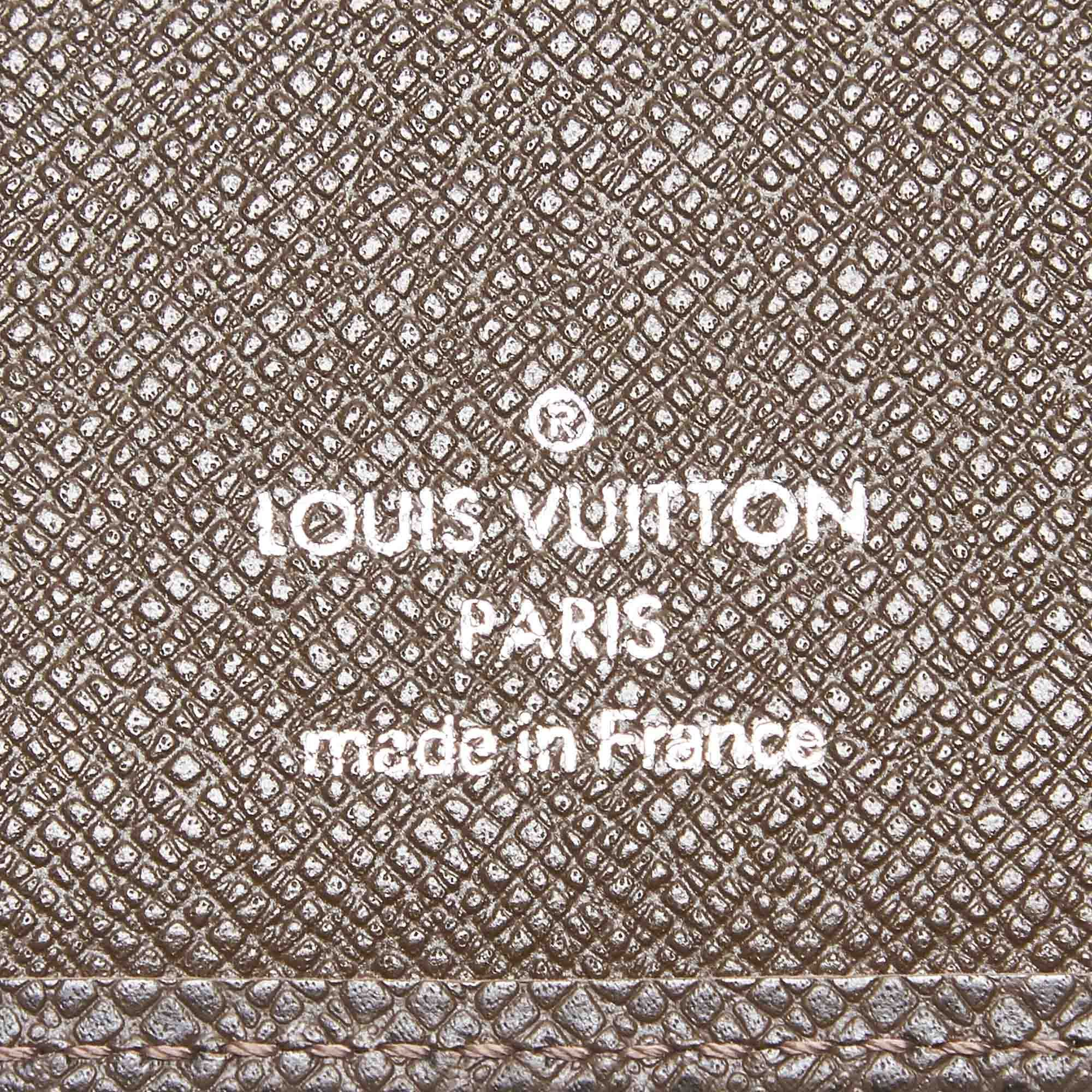 Vintage Louis Vuitton Taiga Porte-Cartes Credit Yen Wallet Brown