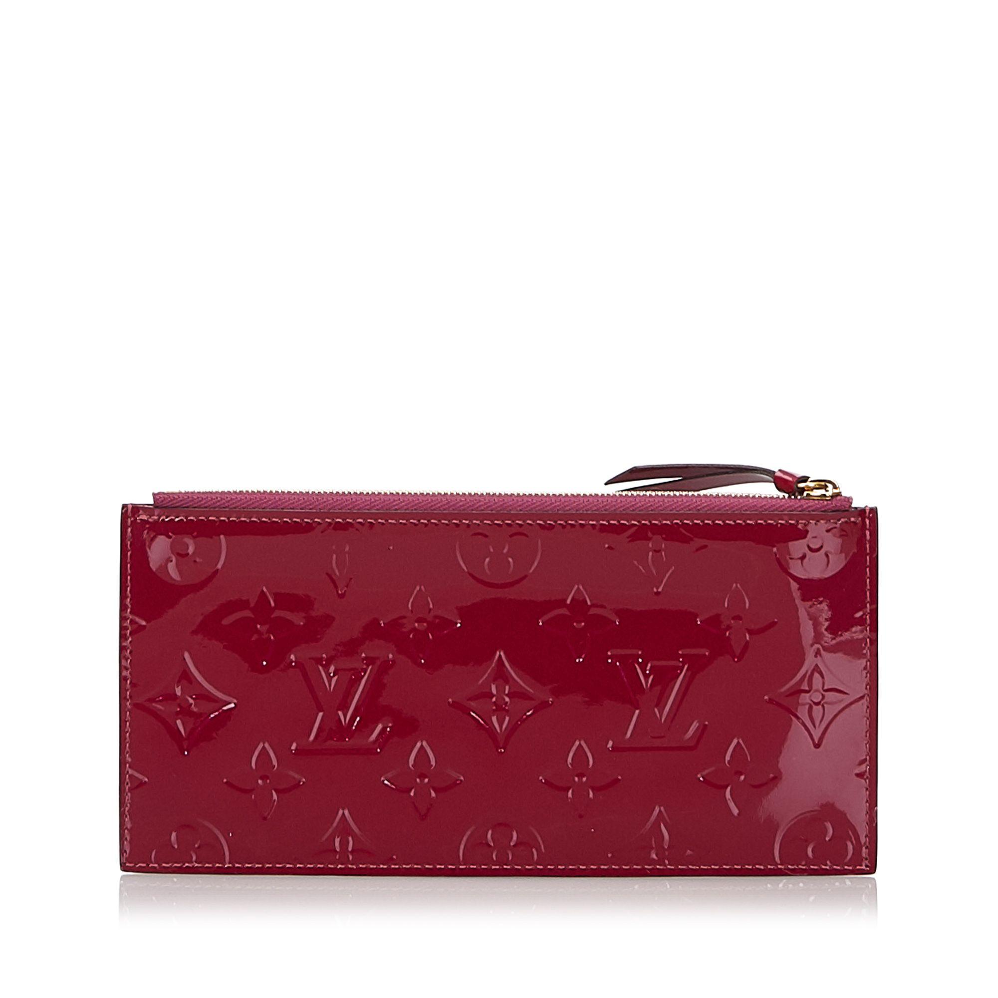 Vintage Louis Vuitton Vernis Josephine Wallet Zippered Insert Pink