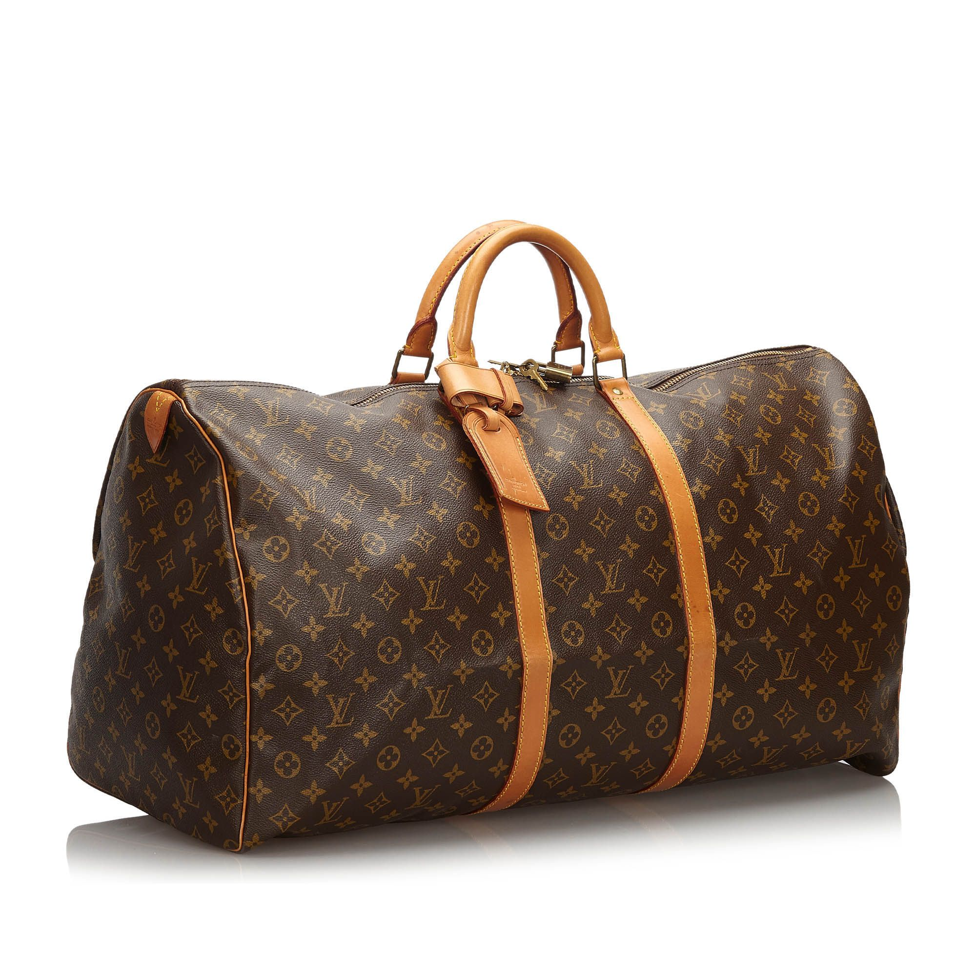 Vintage Louis Vuitton Monogram Keepall 60 Brown