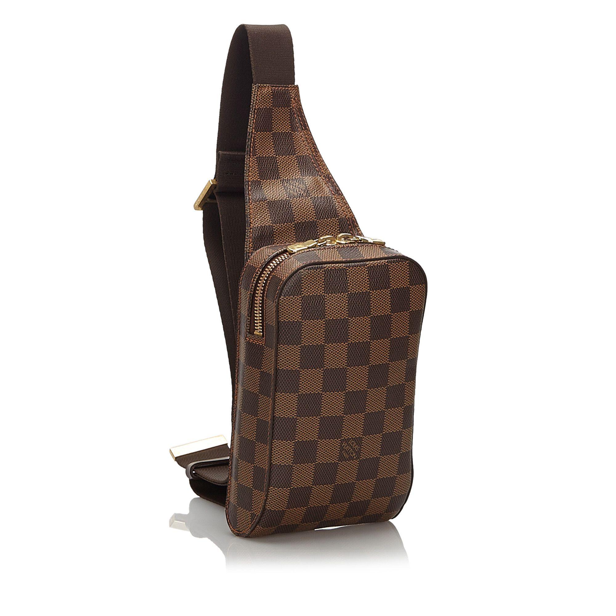Vintage Louis Vuitton Damier Ebene Geronimos Brown