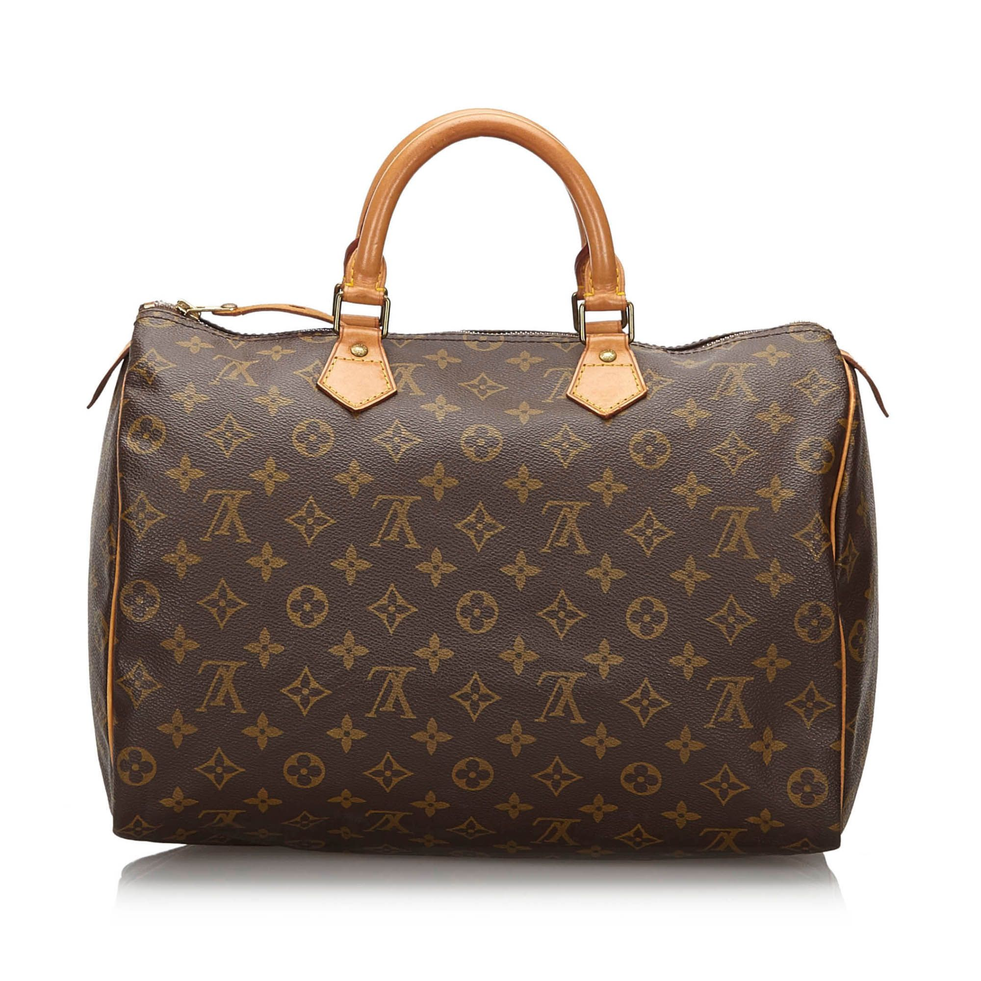 Vintage Louis Vuitton Monogram Speedy 35 Brown