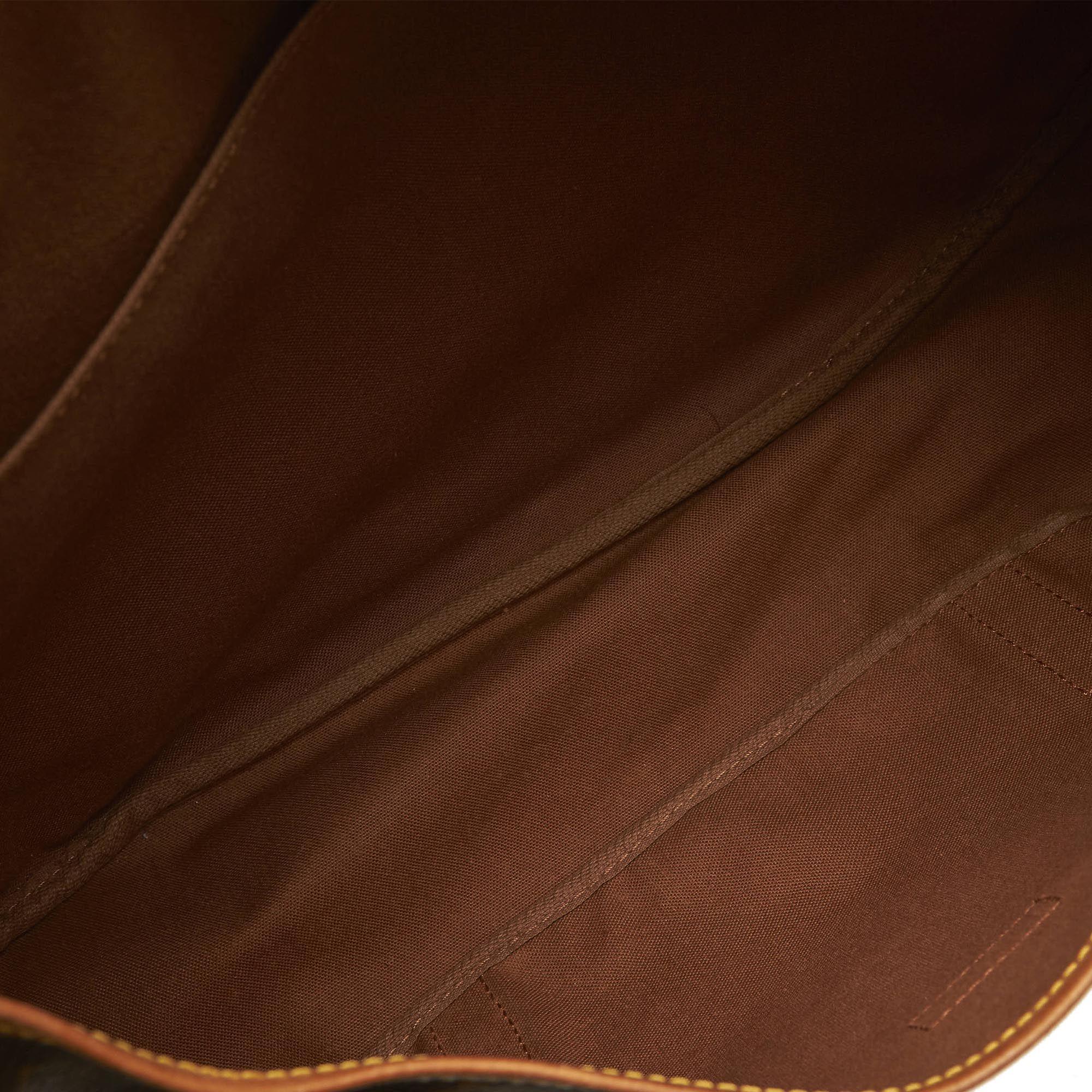 Vintage Louis Vuitton Monogram Saumur 43 Brown