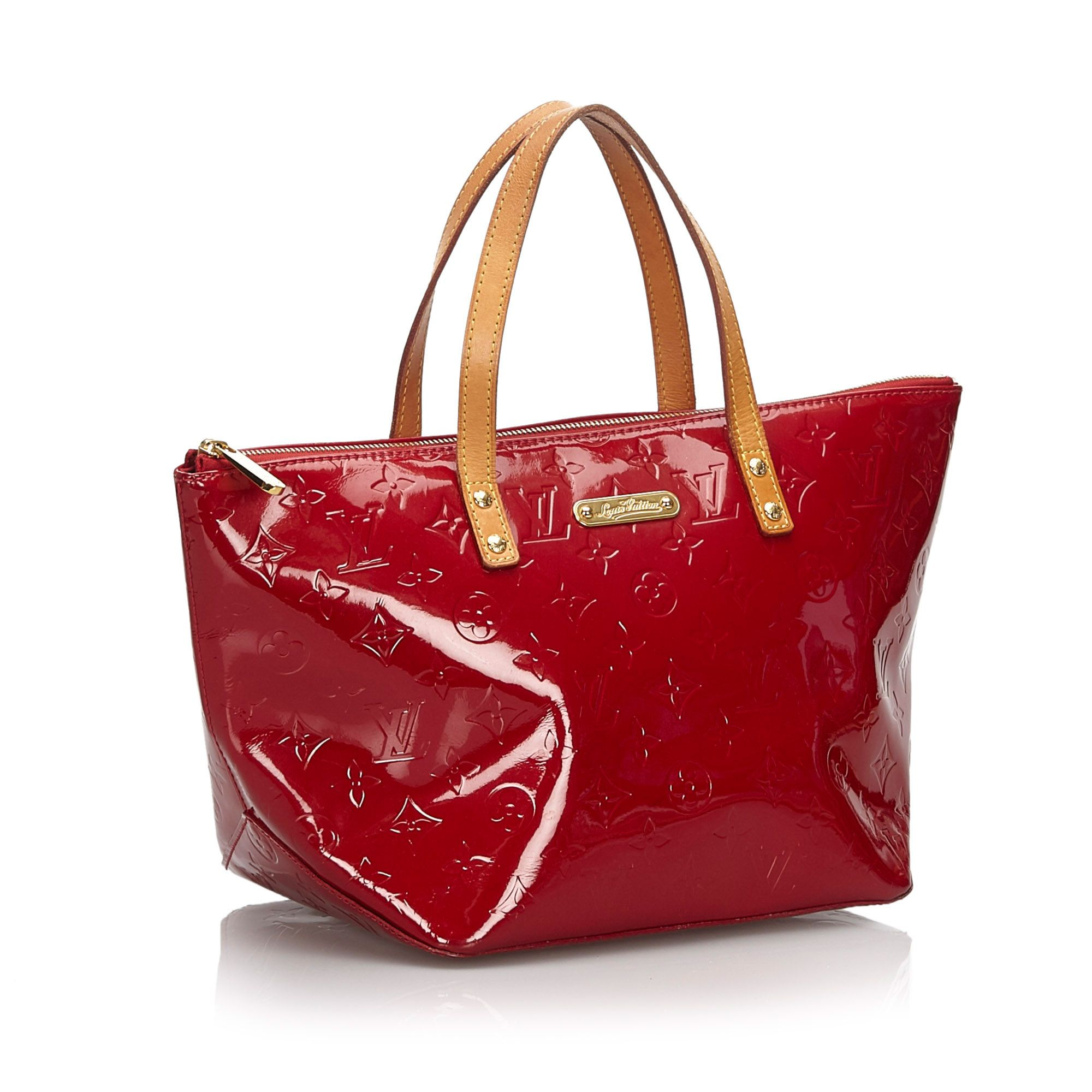Vintage Louis Vuitton Vernis Bellevue PM Red