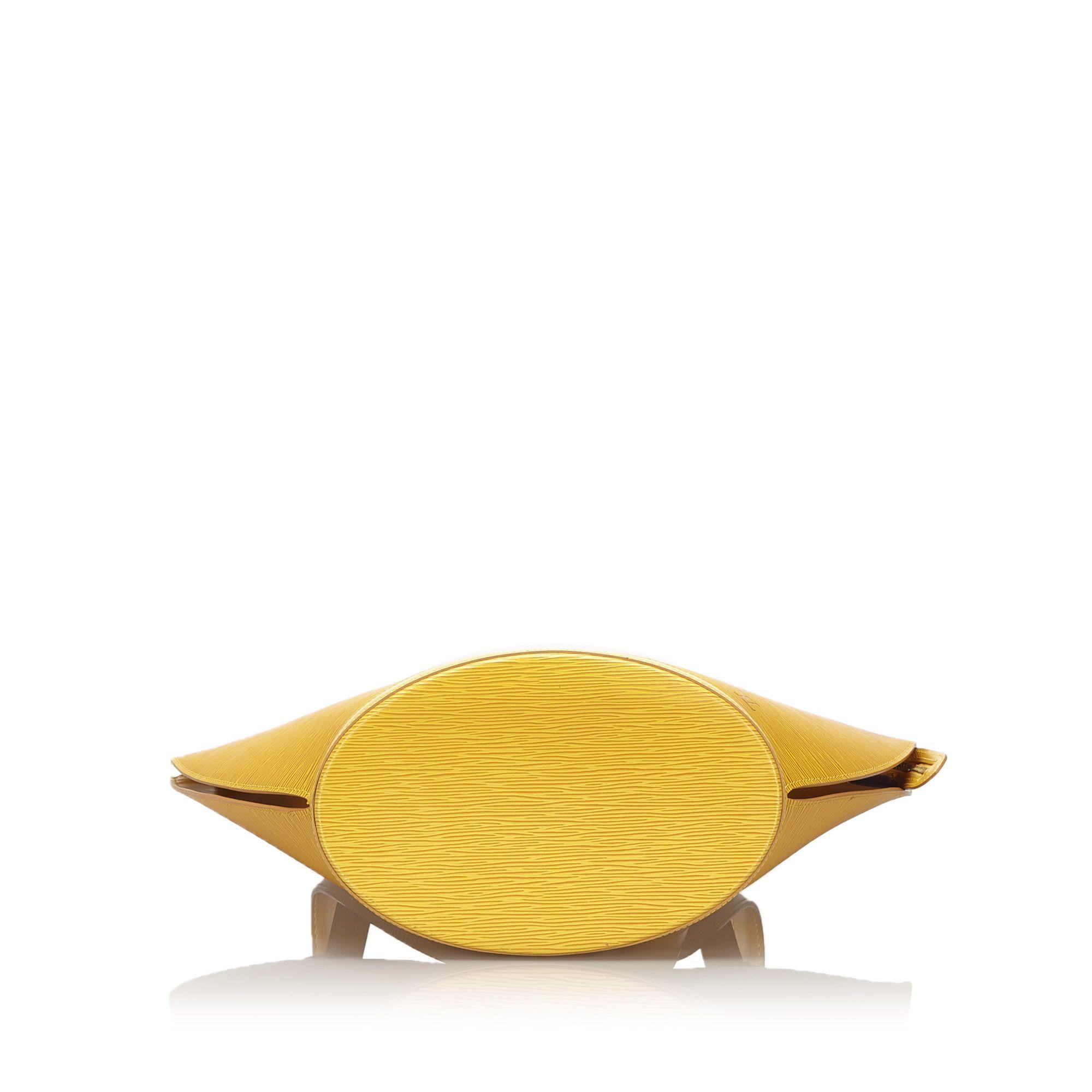 Vintage Louis Vuitton Epi Saint Jacques PM Long Strap Yellow