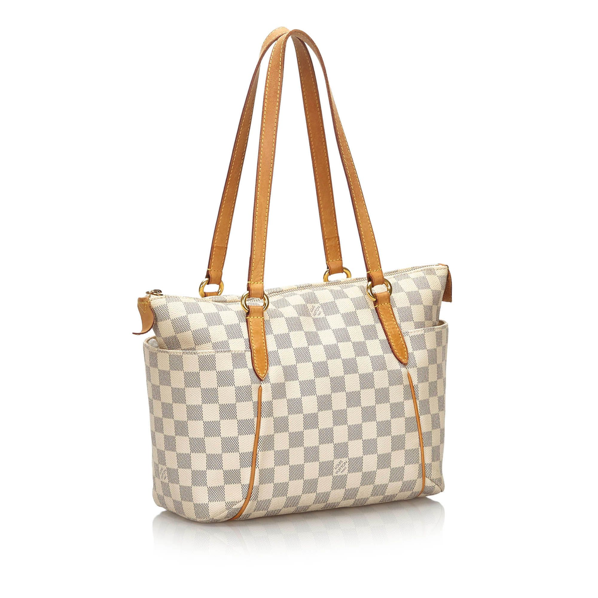 Vintage Louis Vuitton Damier Azur Totally PM White