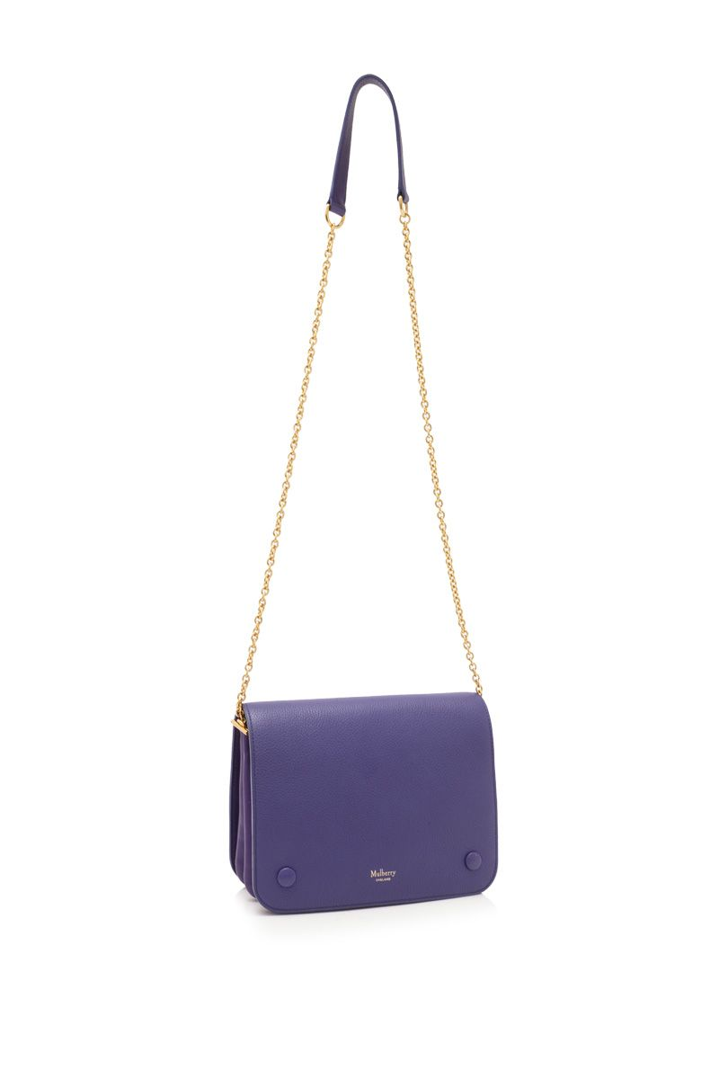 Vintage Mulberry Leather Crossbody Bag Blue