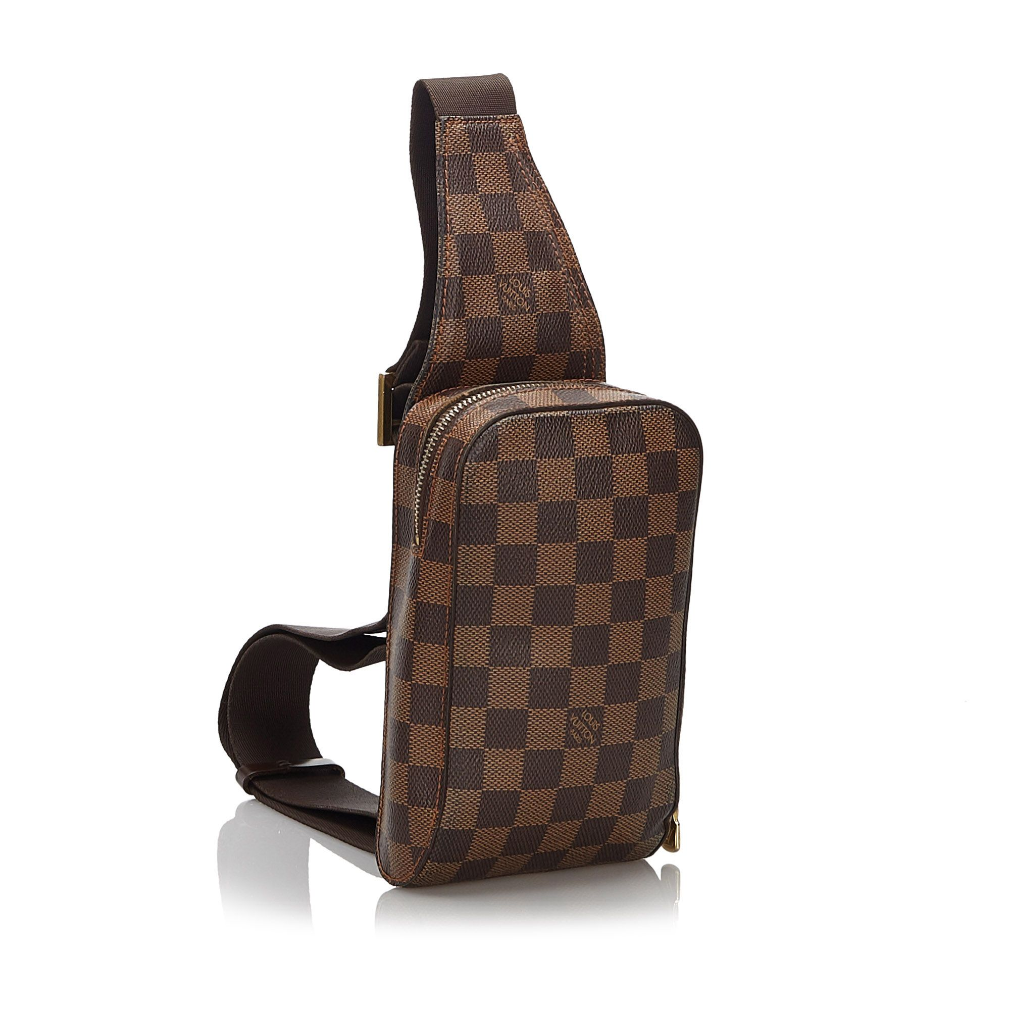 Vintage Louis Vuitton Damier Ebene Geronimos Brown