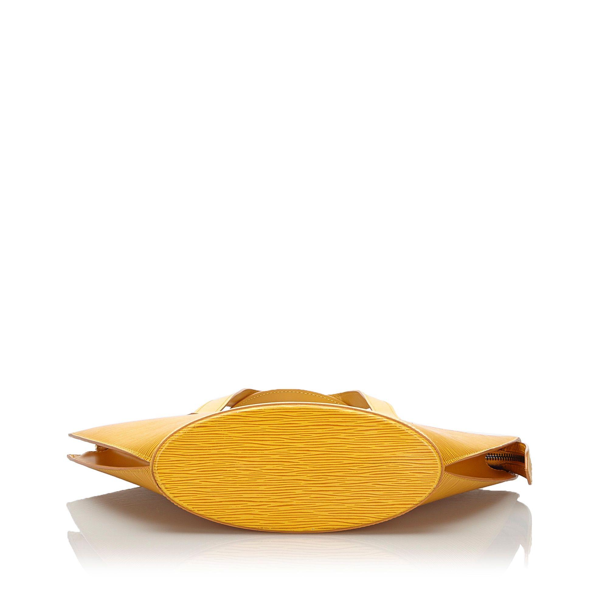 Vintage Louis Vuitton Epi Saint Jacques PM Short Strap Yellow