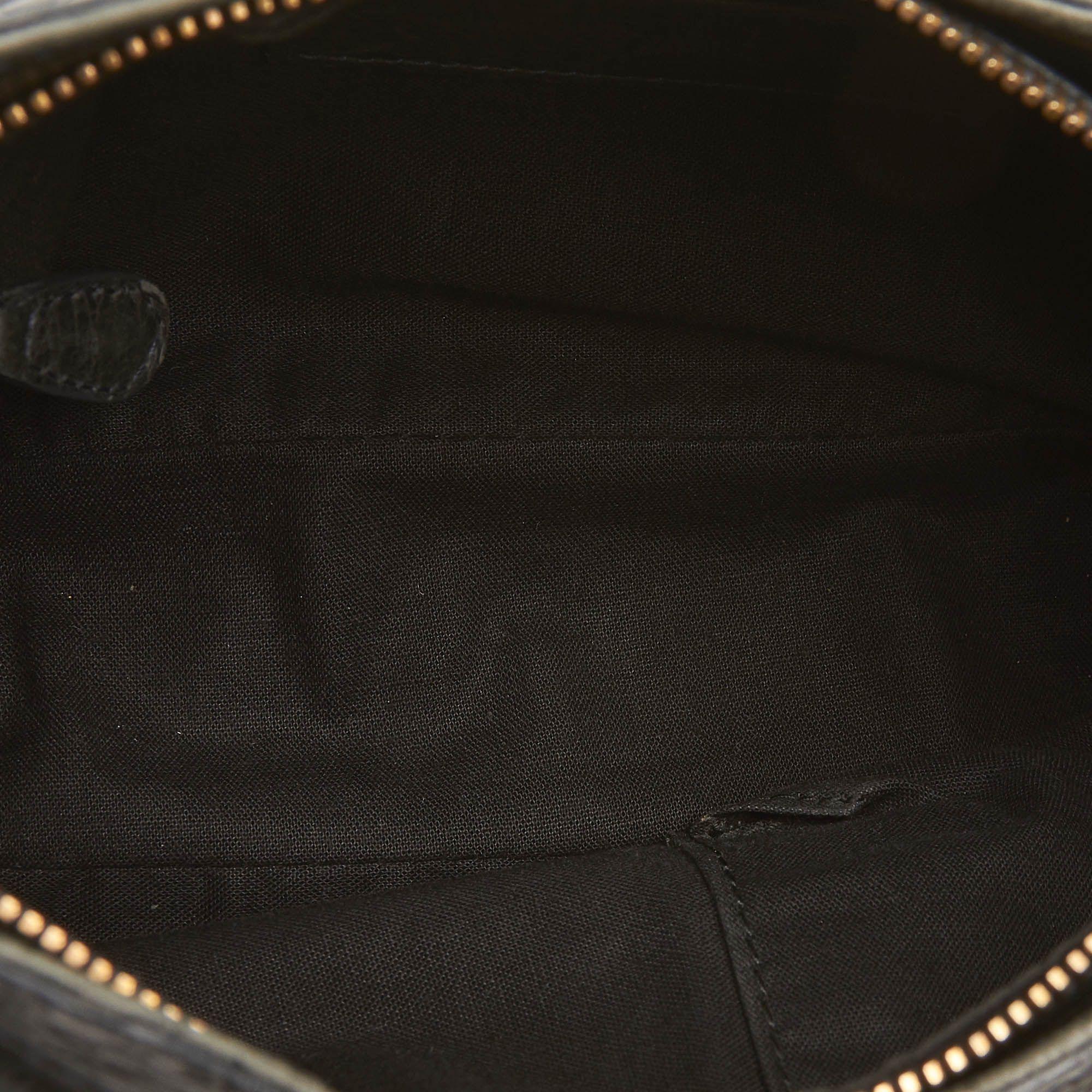 Vintage Balenciaga Motocross Giant Hip Crossbody Bag Black