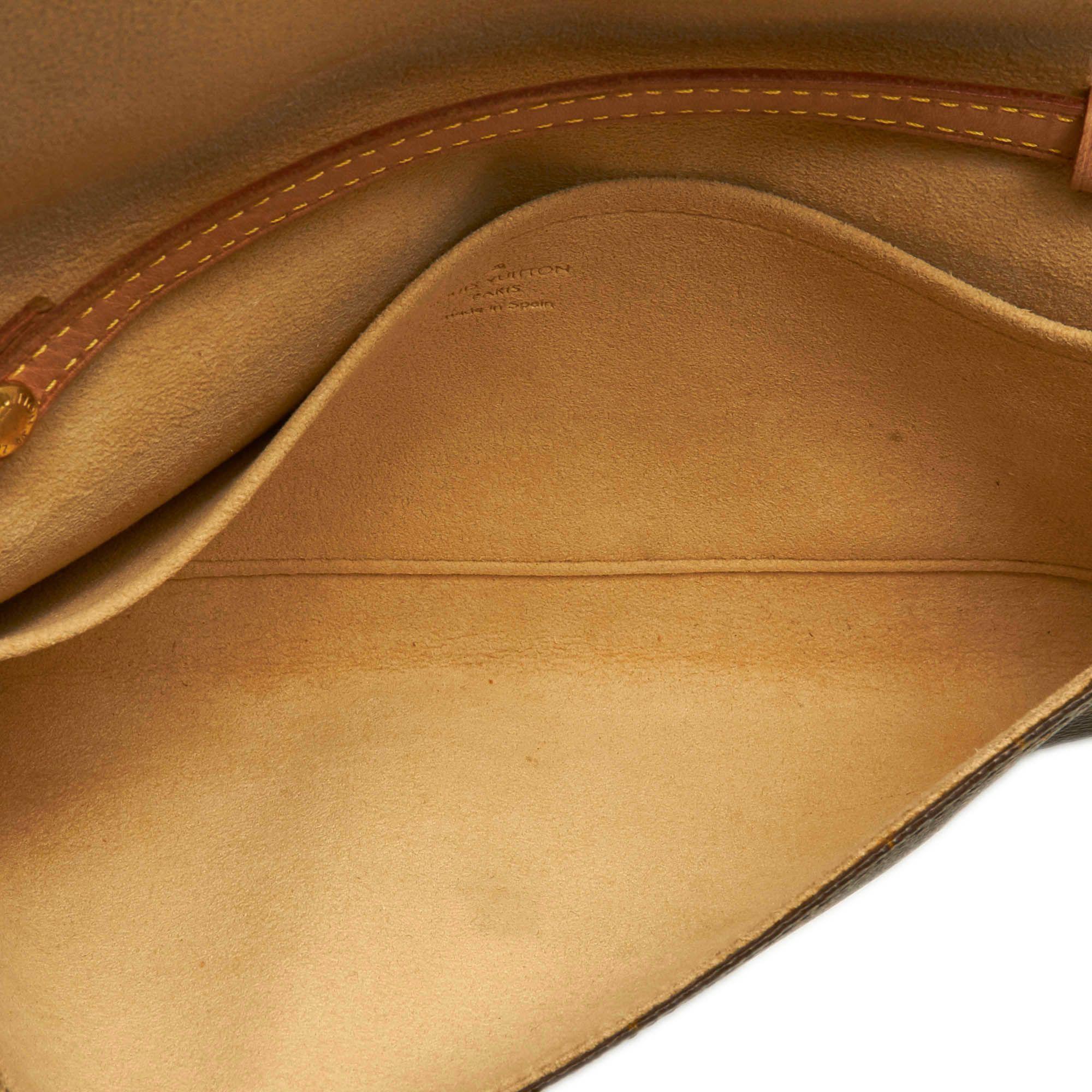 Vintage Louis Vuitton Monogram Pochette Twin GM Brown