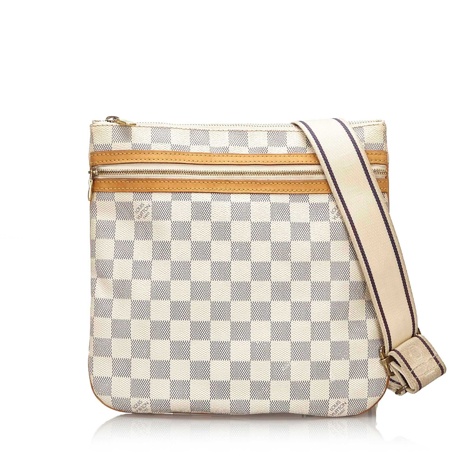 Vintage Louis Vuitton Damier Azur Pochette Bosphore White
