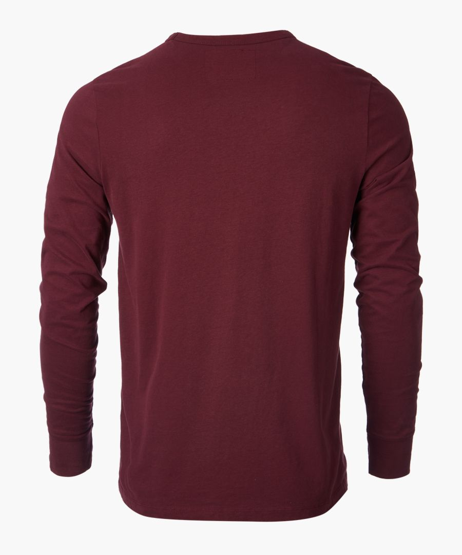 Port graphic logo long sleeved top