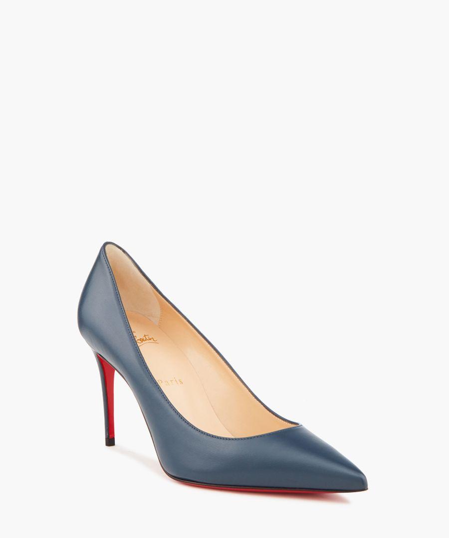 Kate 85 blue leather heeled pumps