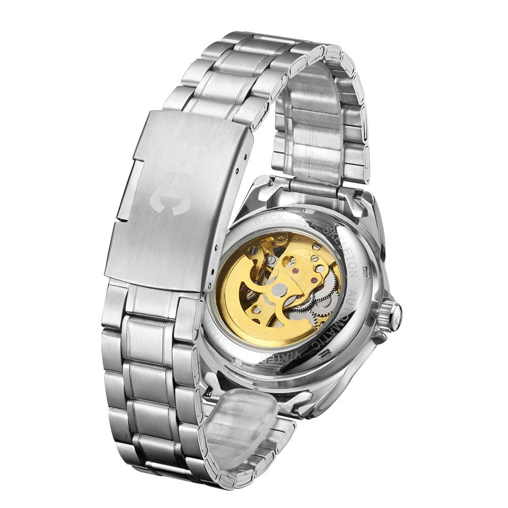 Hand Assembled Anthony James Limited Edition Skeleton  Steel Mens Watch
