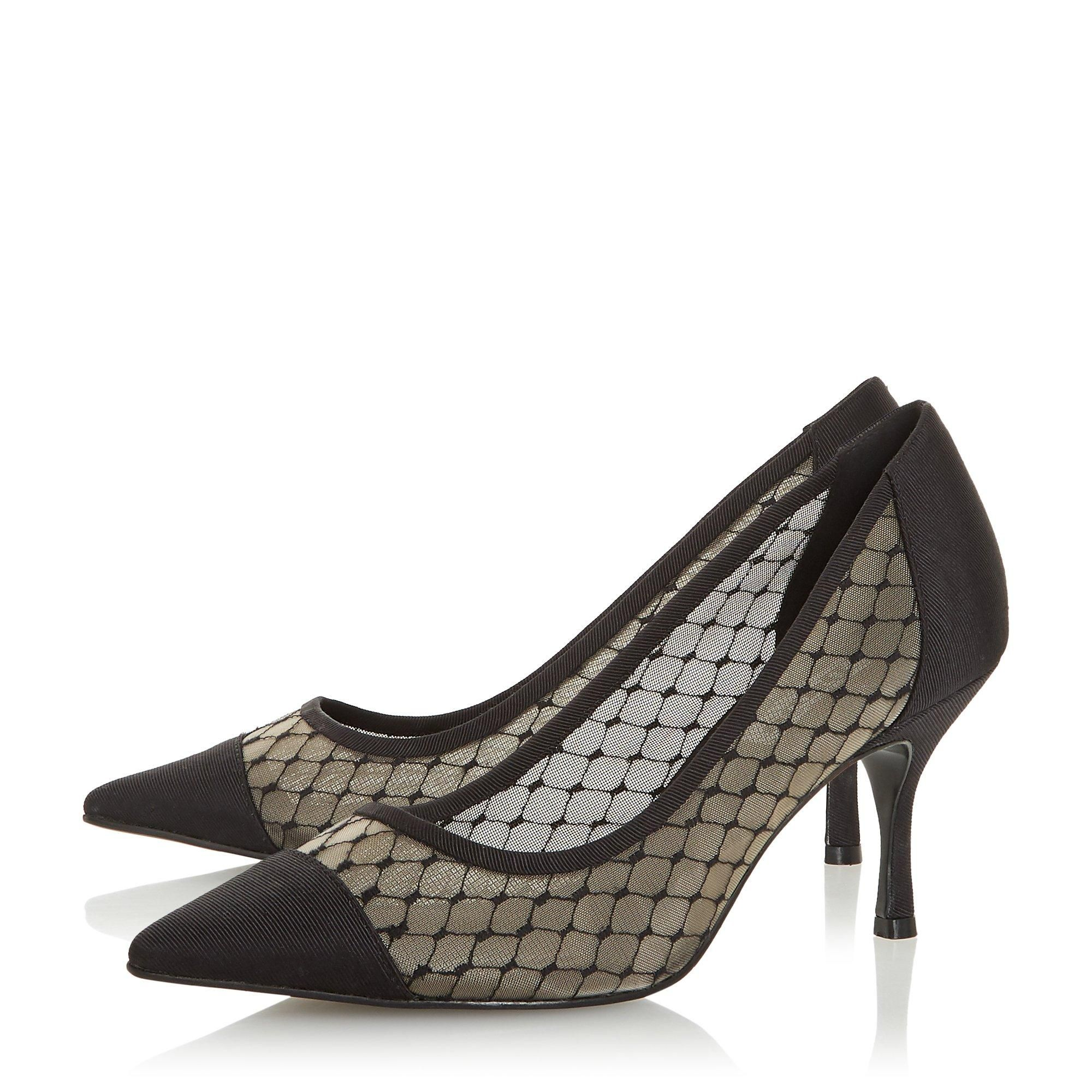 Dune Ladies AMANTE Mesh Embroidered Point Court Shoes