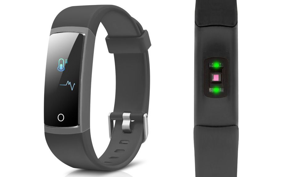 AQ126 Fitness tracker with blood pressure - Colour Screen - Black