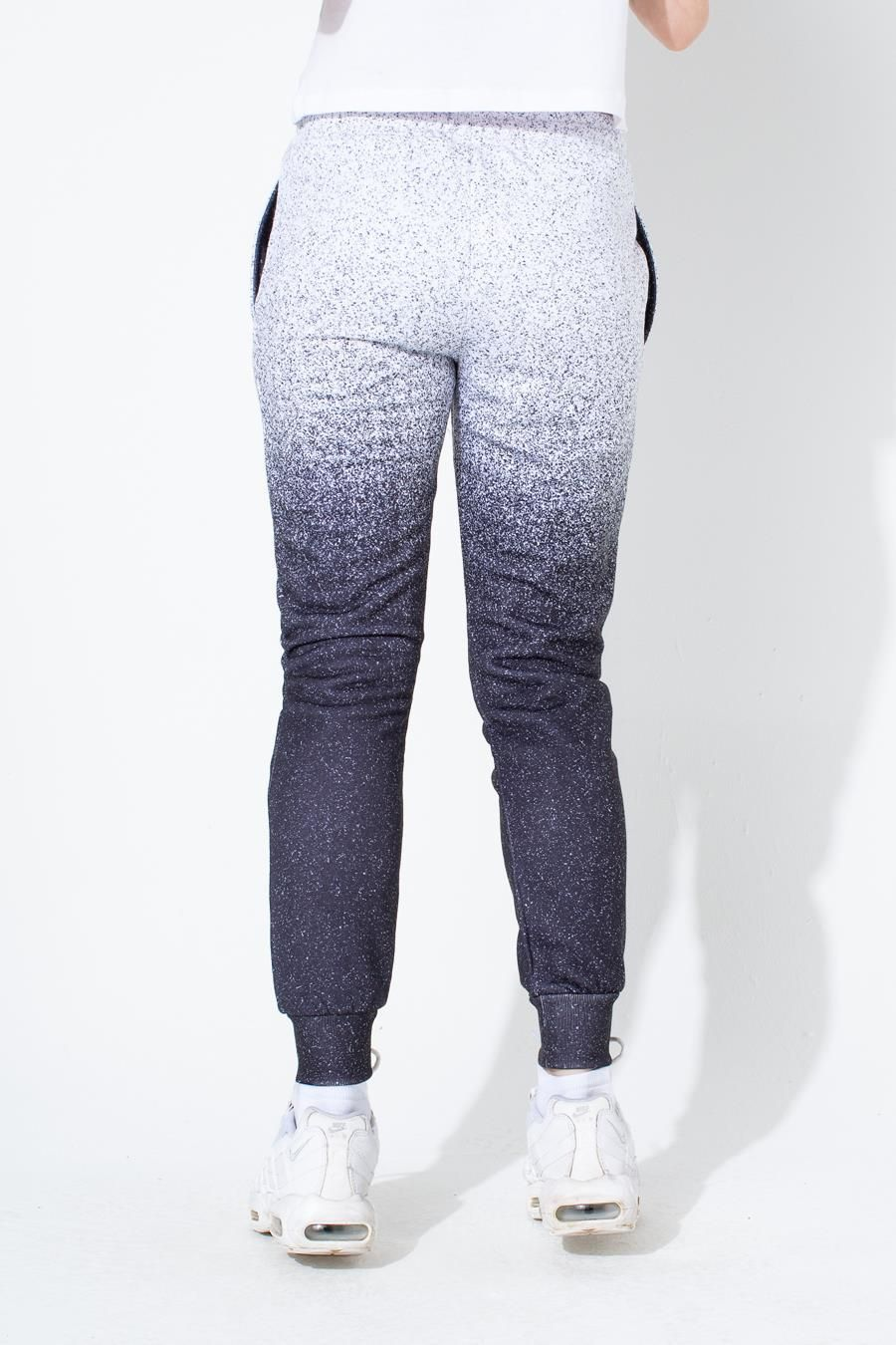 Hype White Speckle Fade Kids Joggers