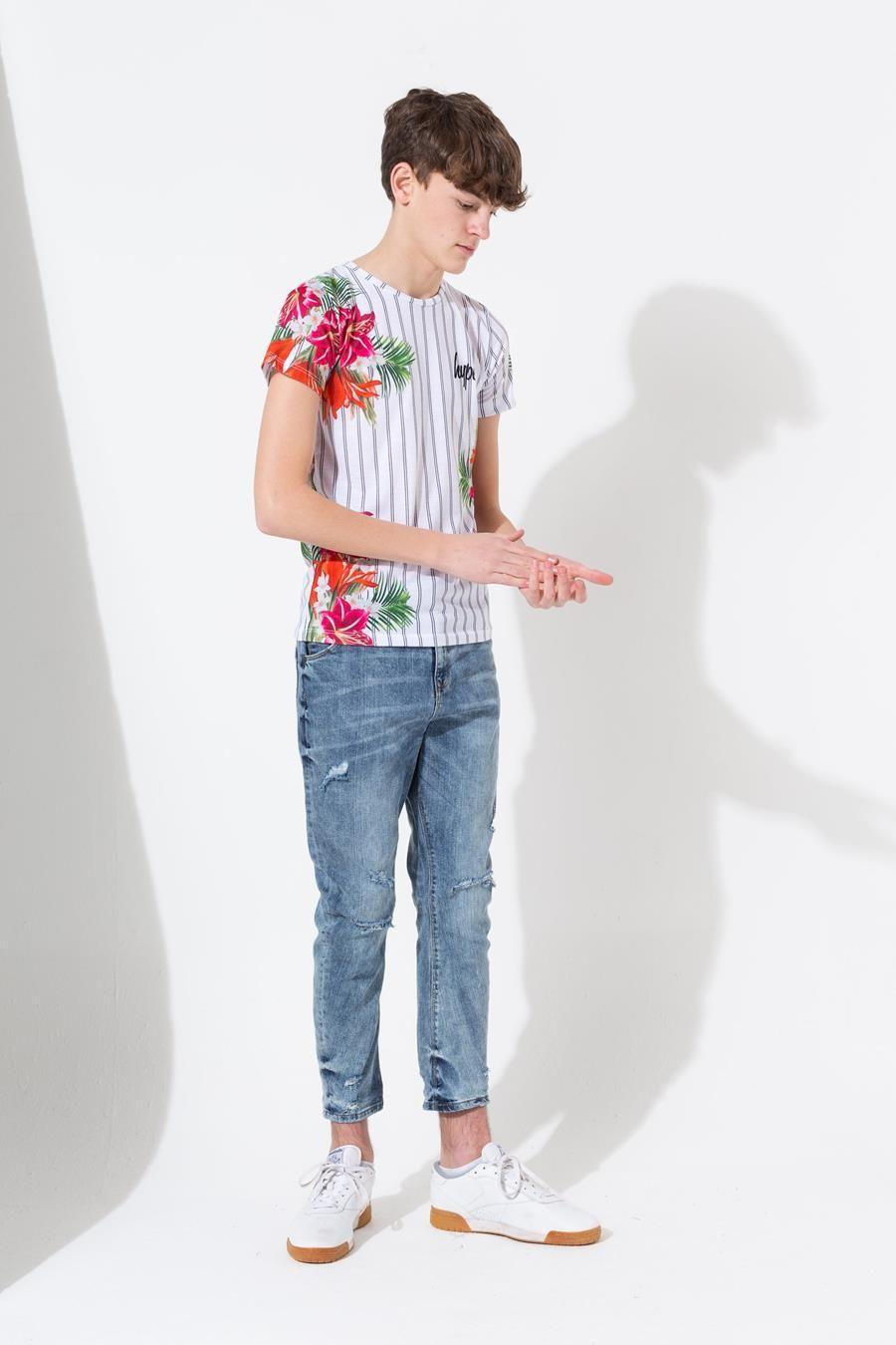 Hype White Donlon Floral Kids T-Shirt