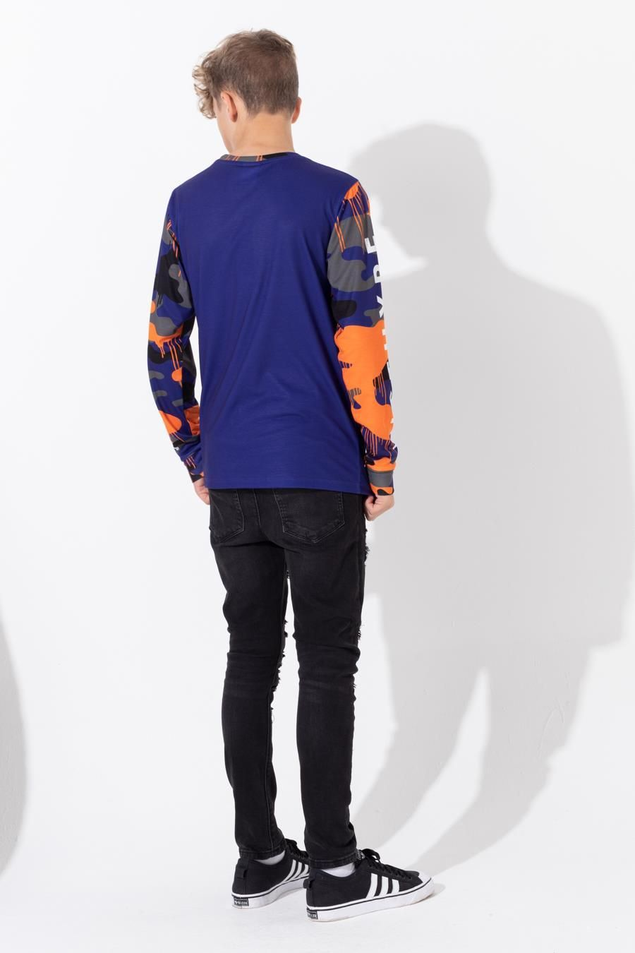 HYPE CAMO DRIPS KIDS L/S T-SHIRT