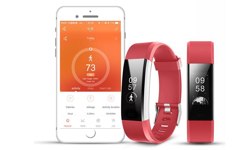 Aquarius Heart Rate Monitoring Fitness Tracker  AQ125HR - RED