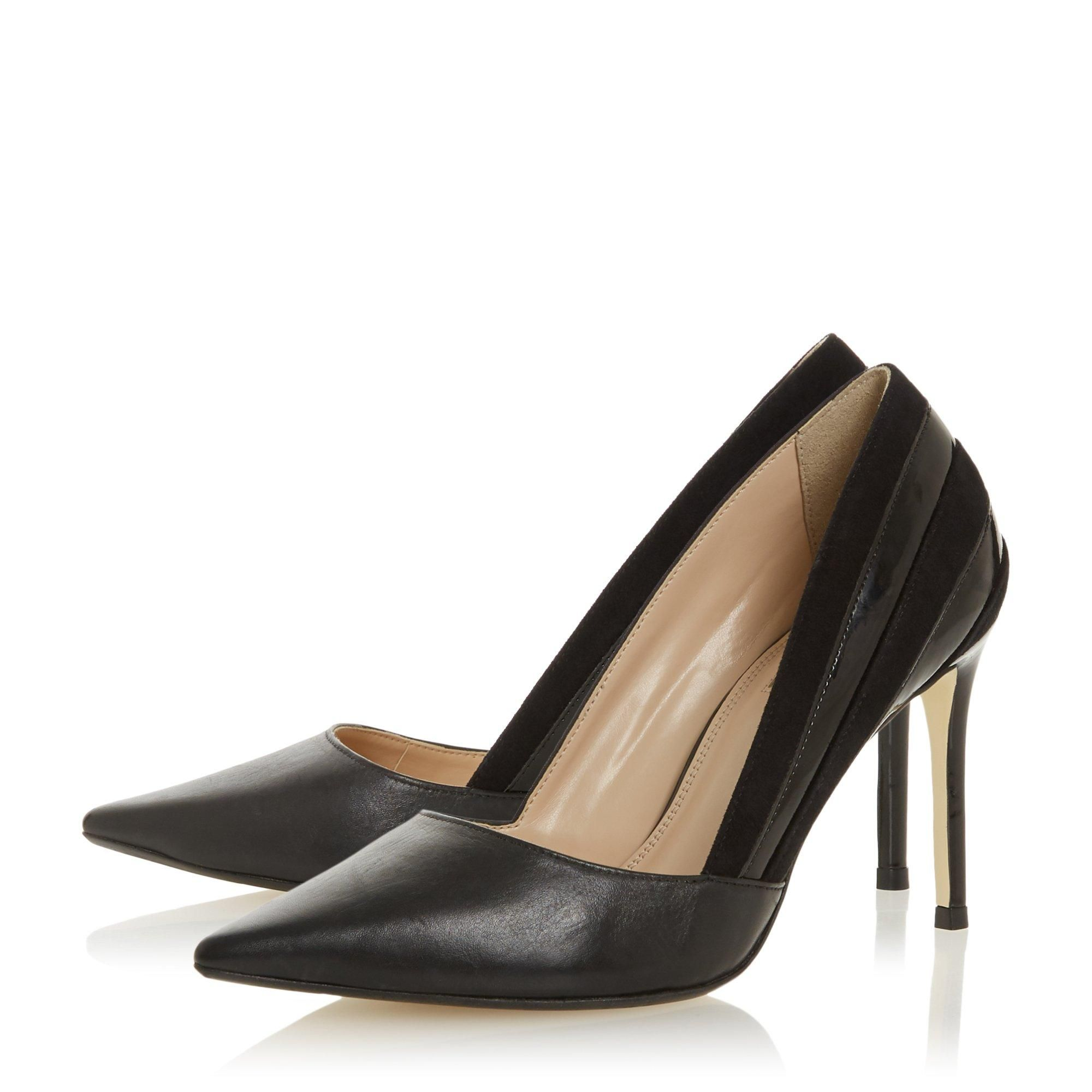 Dune Ladies BARRELLE Panel Detail Pointed Court Shoes