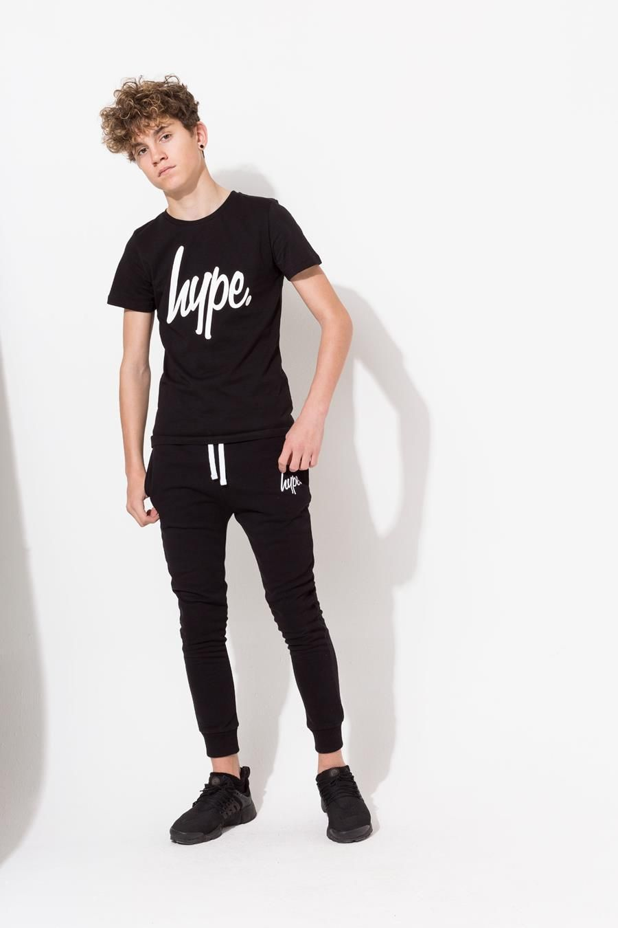 Hype Black Hype Script Kids T-Shirt