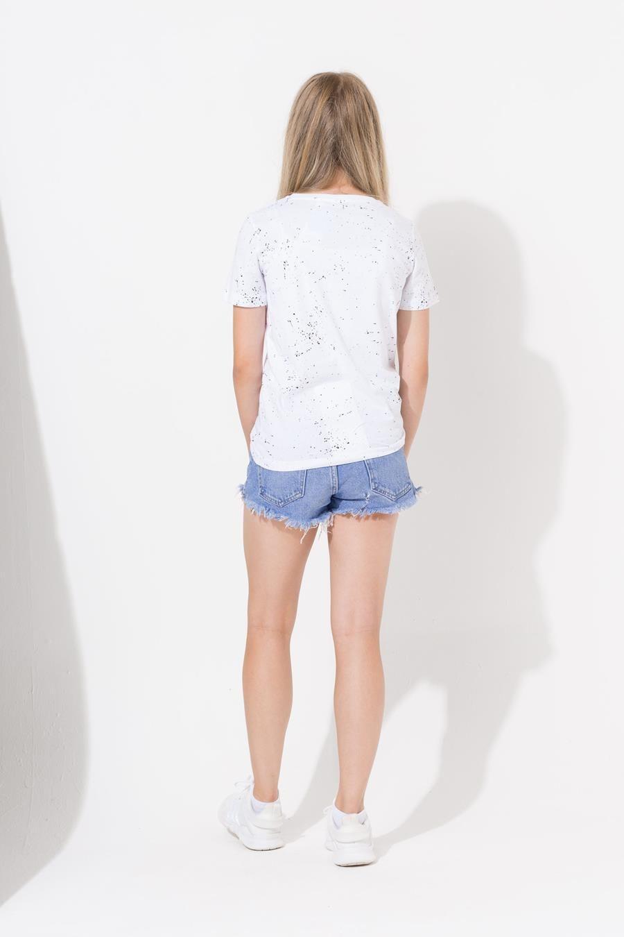 Hype White Aop Speckle Kids T-Shirt