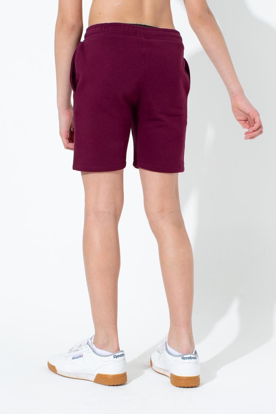 Hype Burgundy Crest Kids Shorts