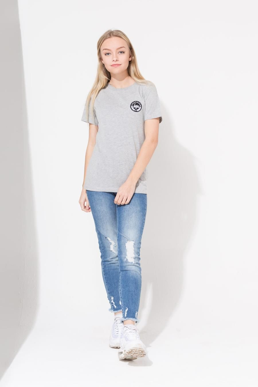 Hype Grey Crest Kids T-Shirt