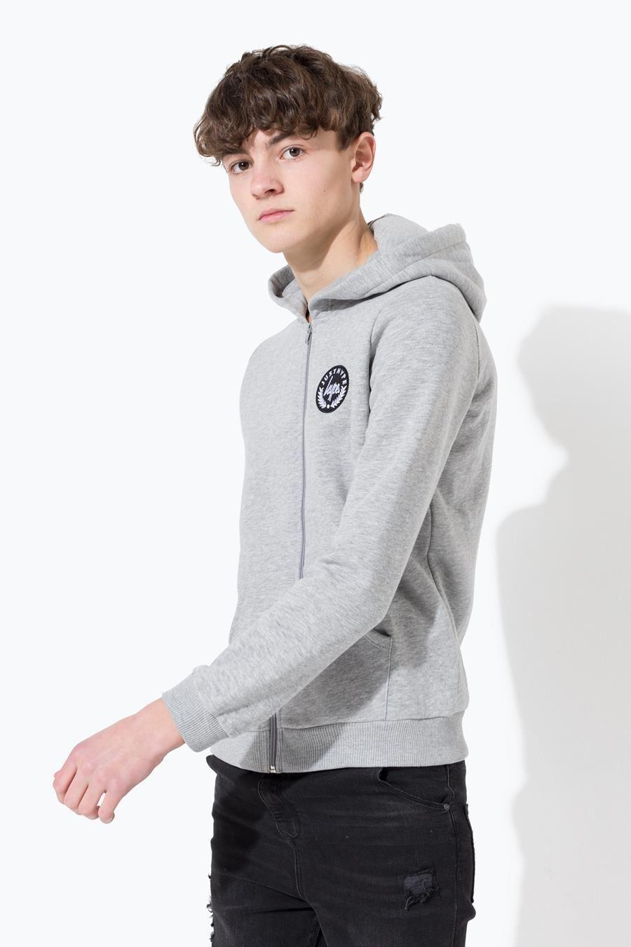 Hype Grey Crest Kids Zip Hoodie