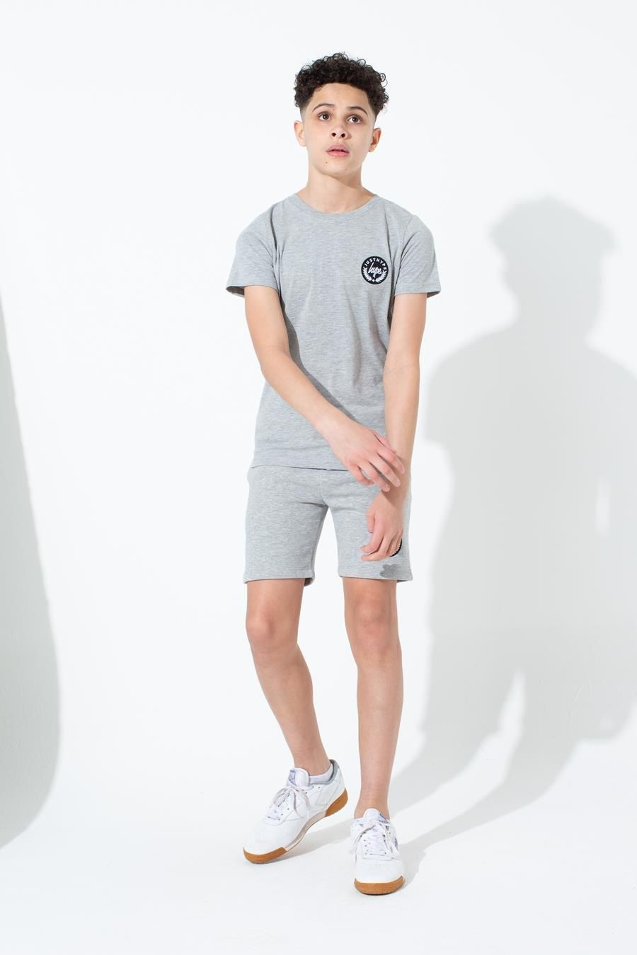 Hype Grey Crest Kids Shorts