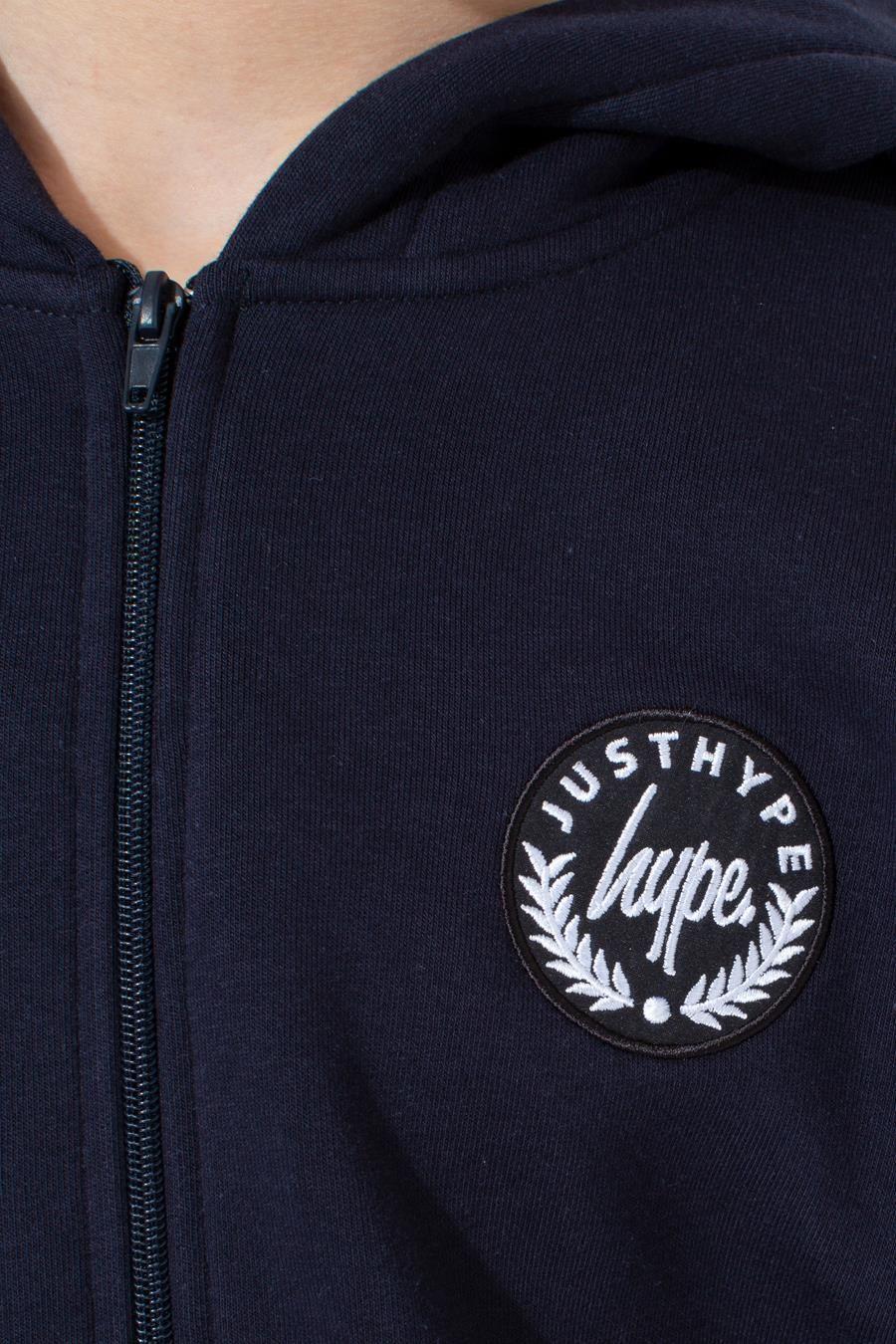 Hype Navy Crest Kids Zip Hoodie