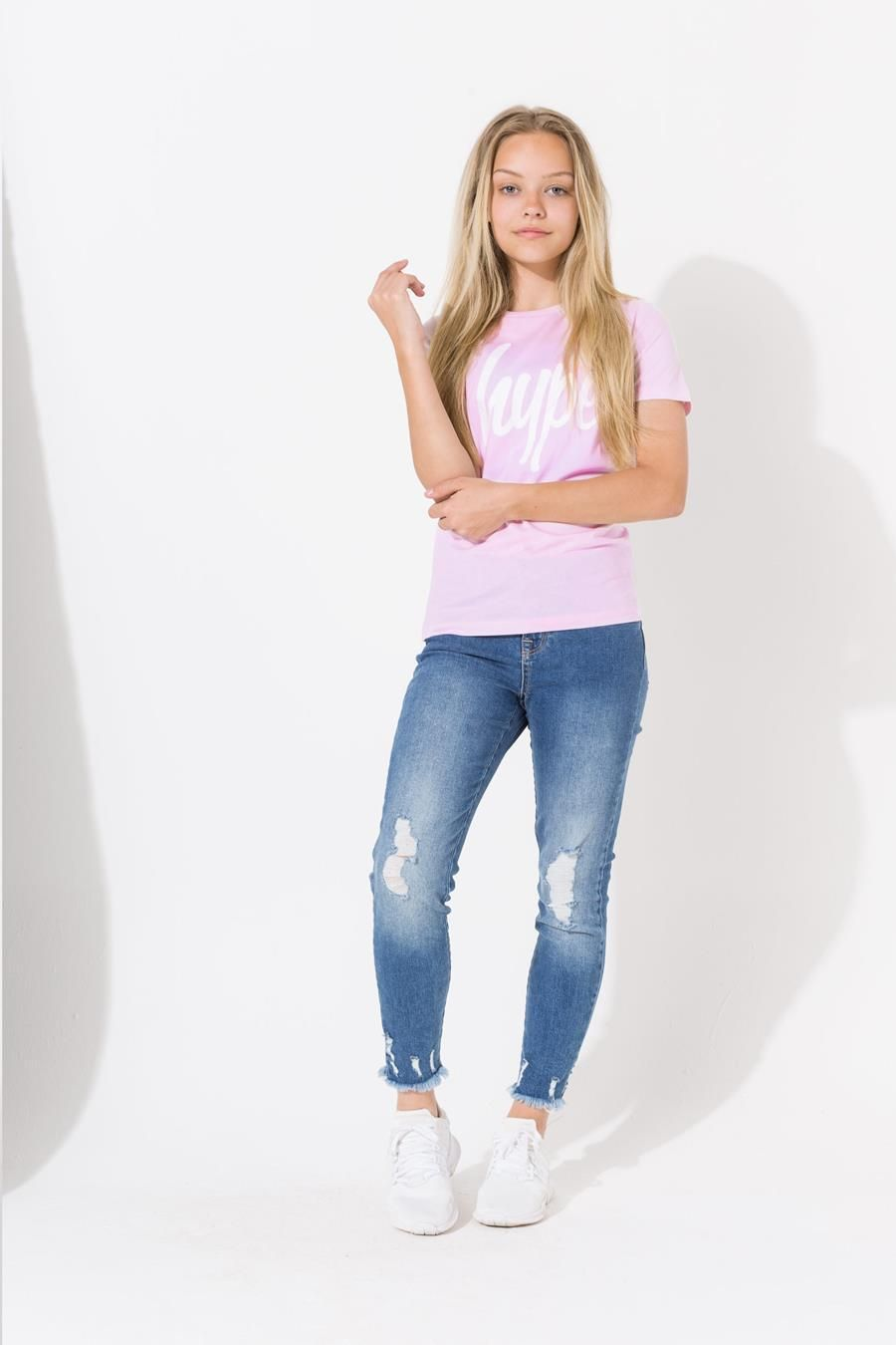 Hype Pink Hype Script Kids T-Shirt