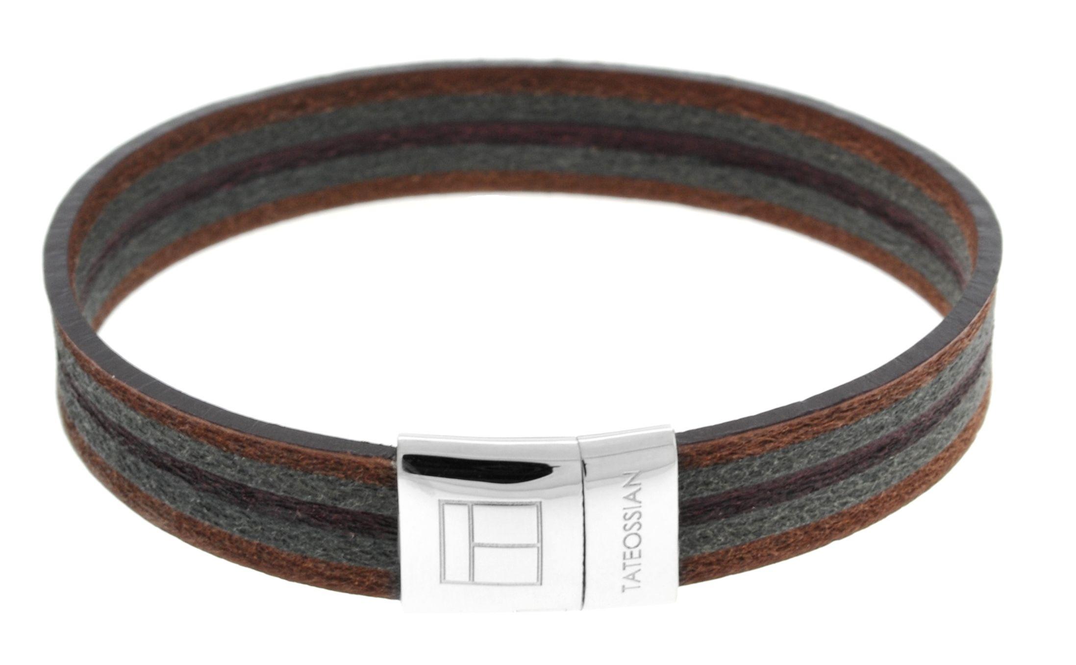 Silver  Leatherer  Brown Single wrap  M-18cm(CF)  Leatherer Mosaic