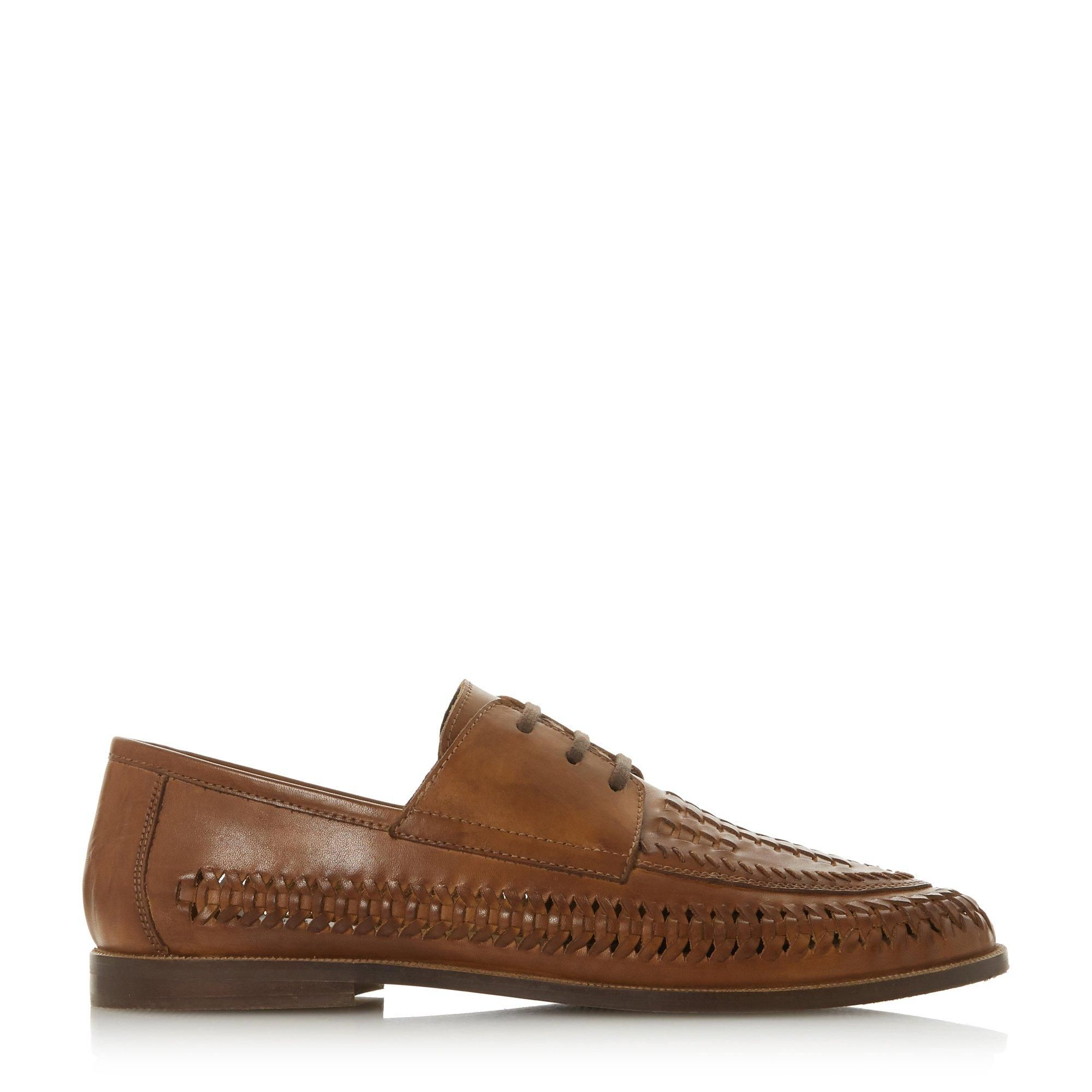Dune Mens BRIGADE Lace Up Woven Loafer