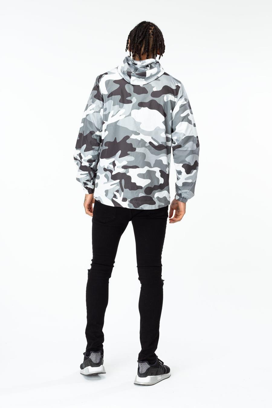 Hype Black Mono Mens Runner Jacket