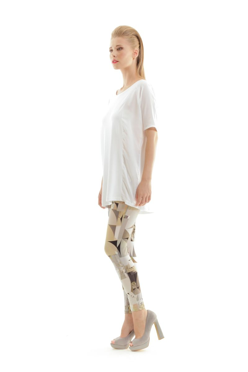 Silky Geometric Print Pants