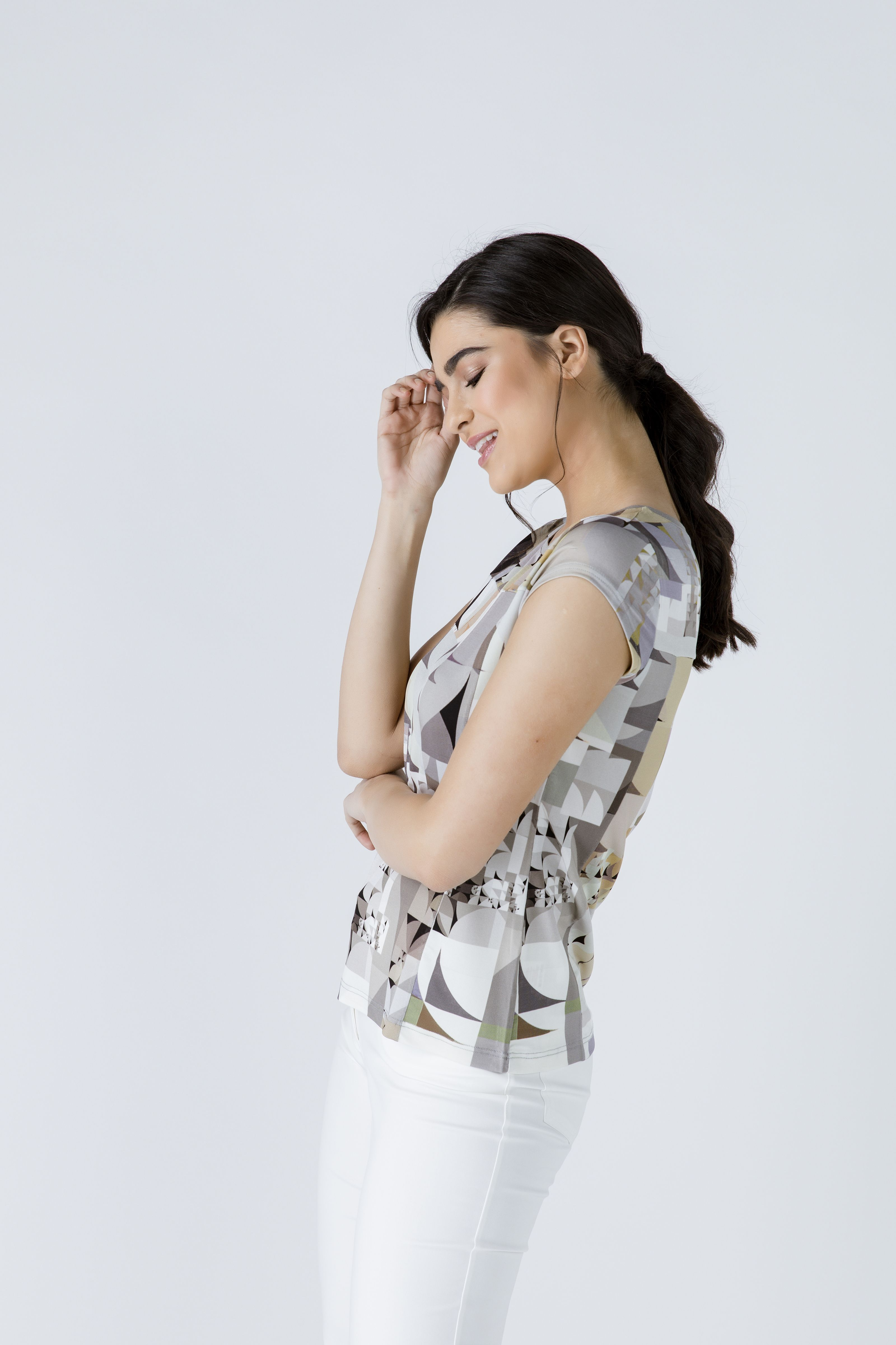 Fitted Print Top