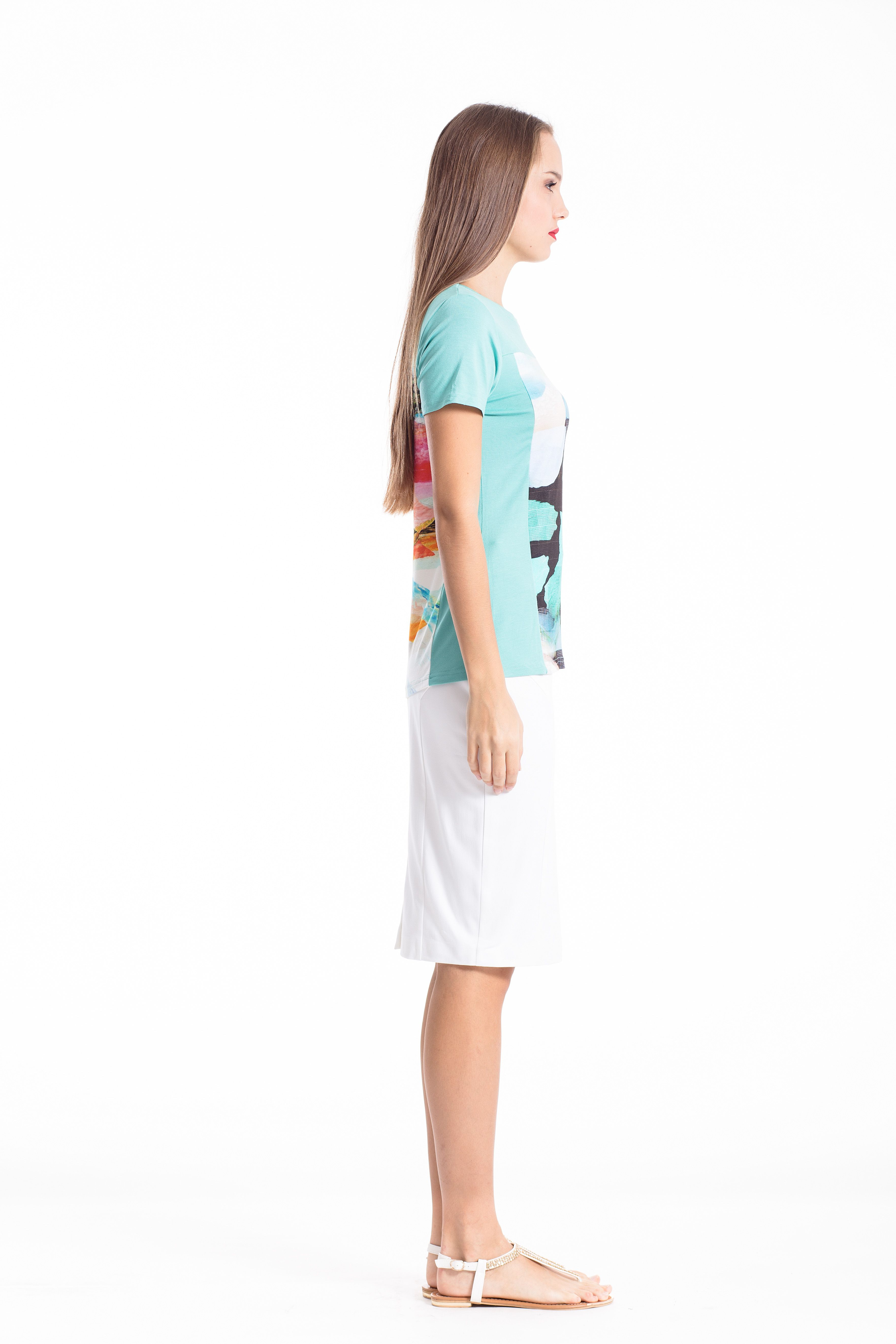 Multicoloured Short Sleeve Top
